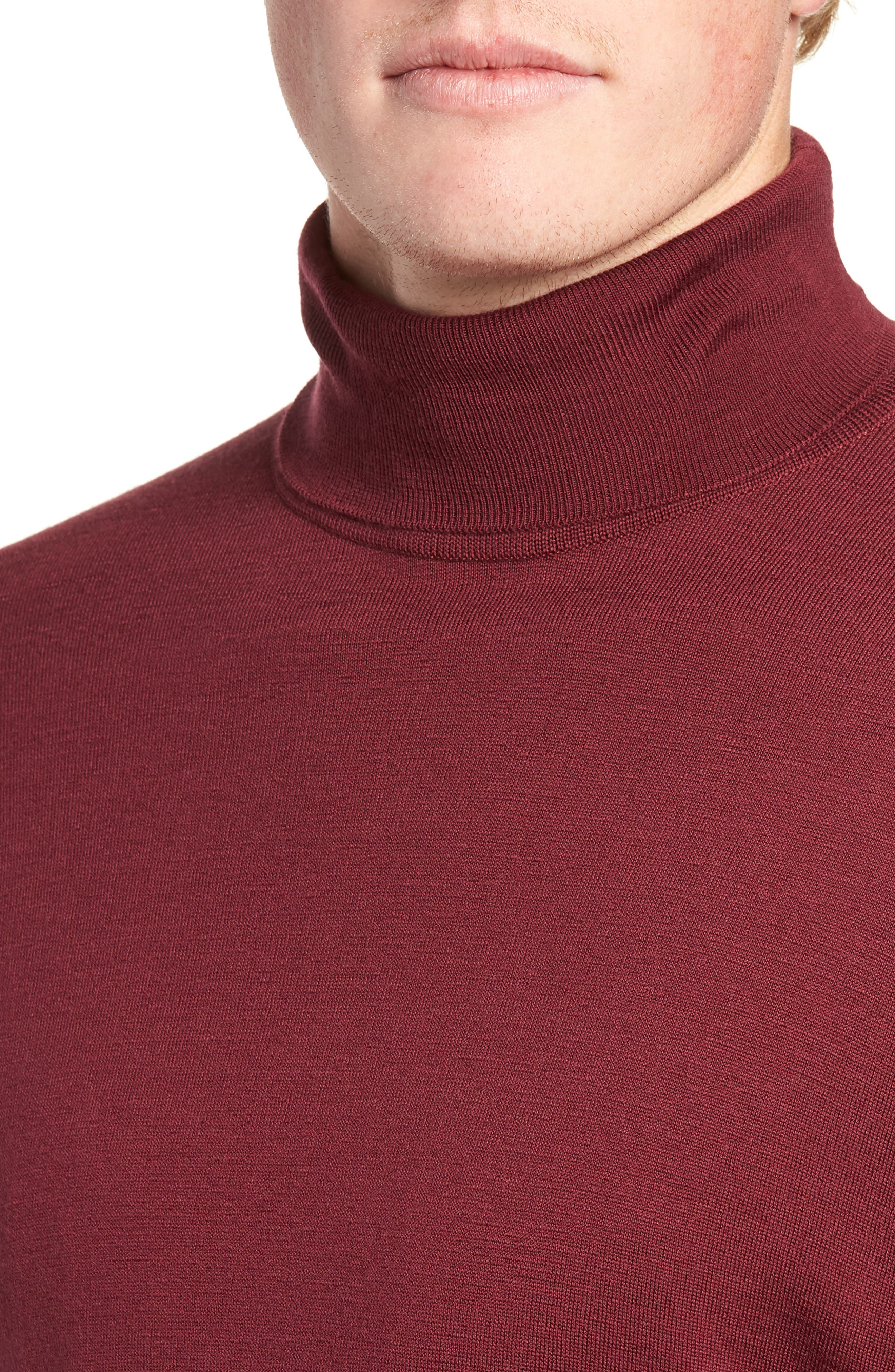 'Richards' Easy Fit Turtleneck Wool Sweater,                             Alternate thumbnail 28, color,