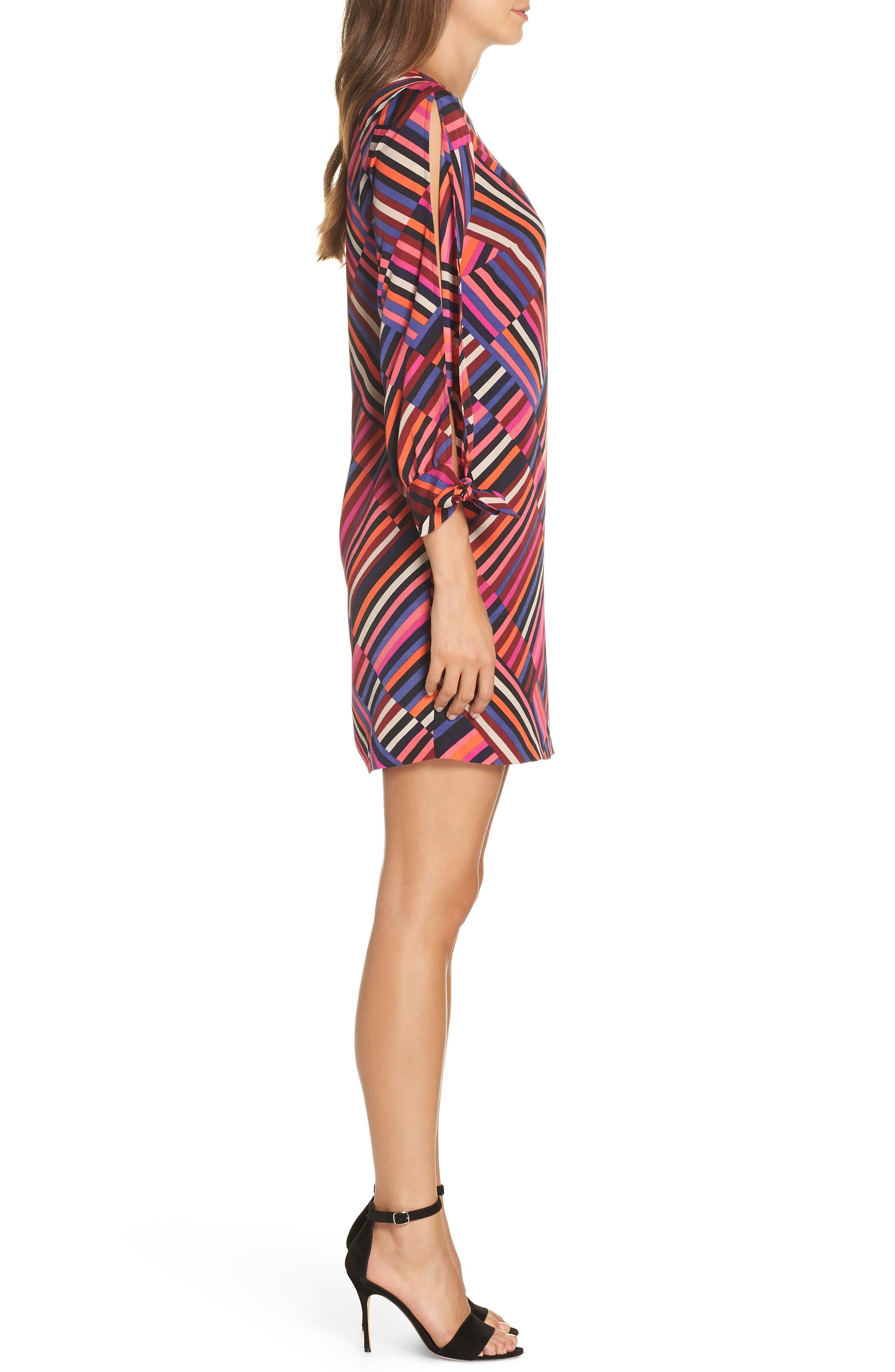 Jaxon Chiffon Dress,                             Alternate thumbnail 3, color,                             MULTI