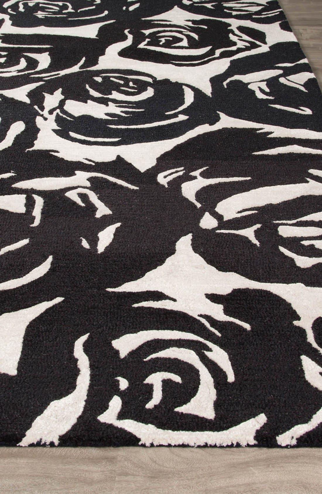 'gramercy - floral' wool & silk rug,                             Alternate thumbnail 2, color,                             001