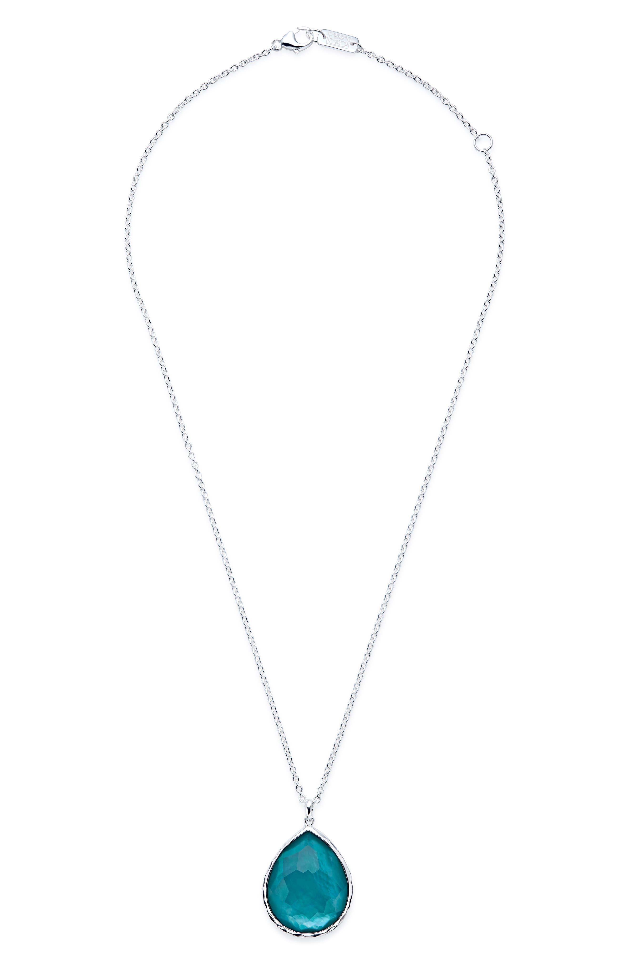 'Wonderland' Large Teardrop Pendant Necklace,                             Main thumbnail 1, color,                             TIDE