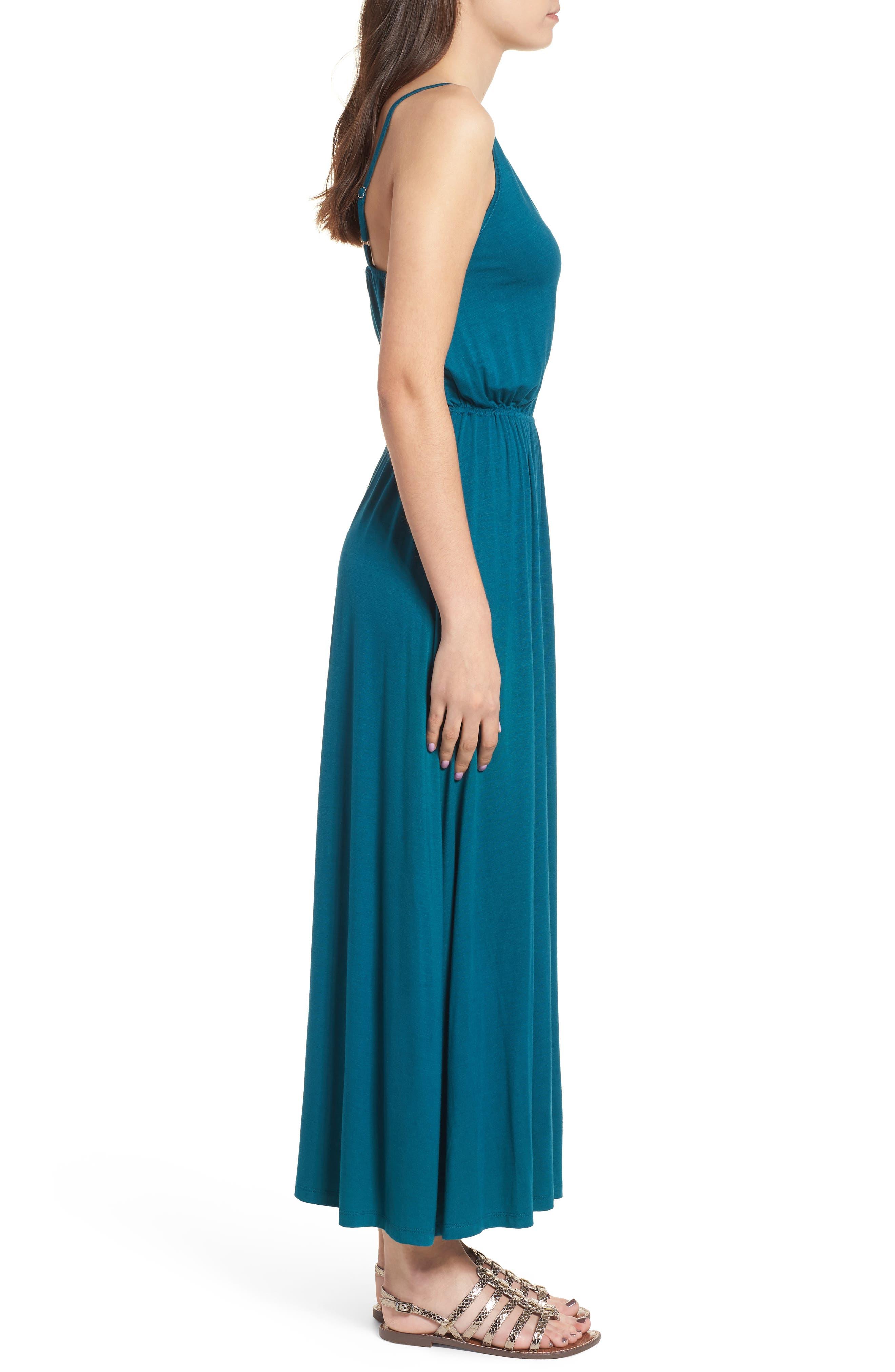 V-Neck Maxi Dress,                             Alternate thumbnail 9, color,