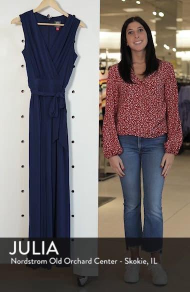 Faux Wrap Jersey Jumpsuit, sales video thumbnail