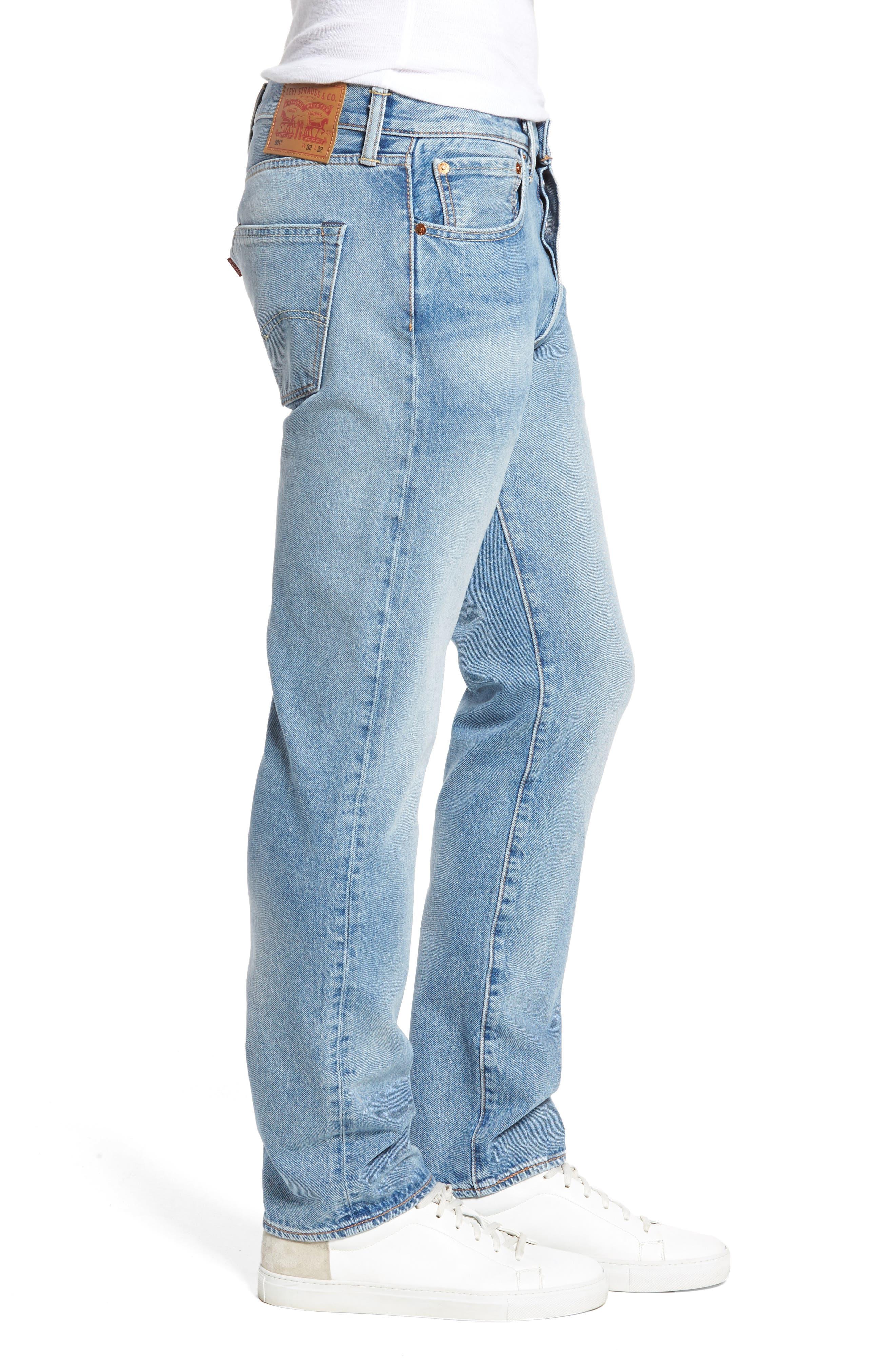 501<sup>™</sup> Slim Straight Leg Jeans,                             Alternate thumbnail 3, color,                             421