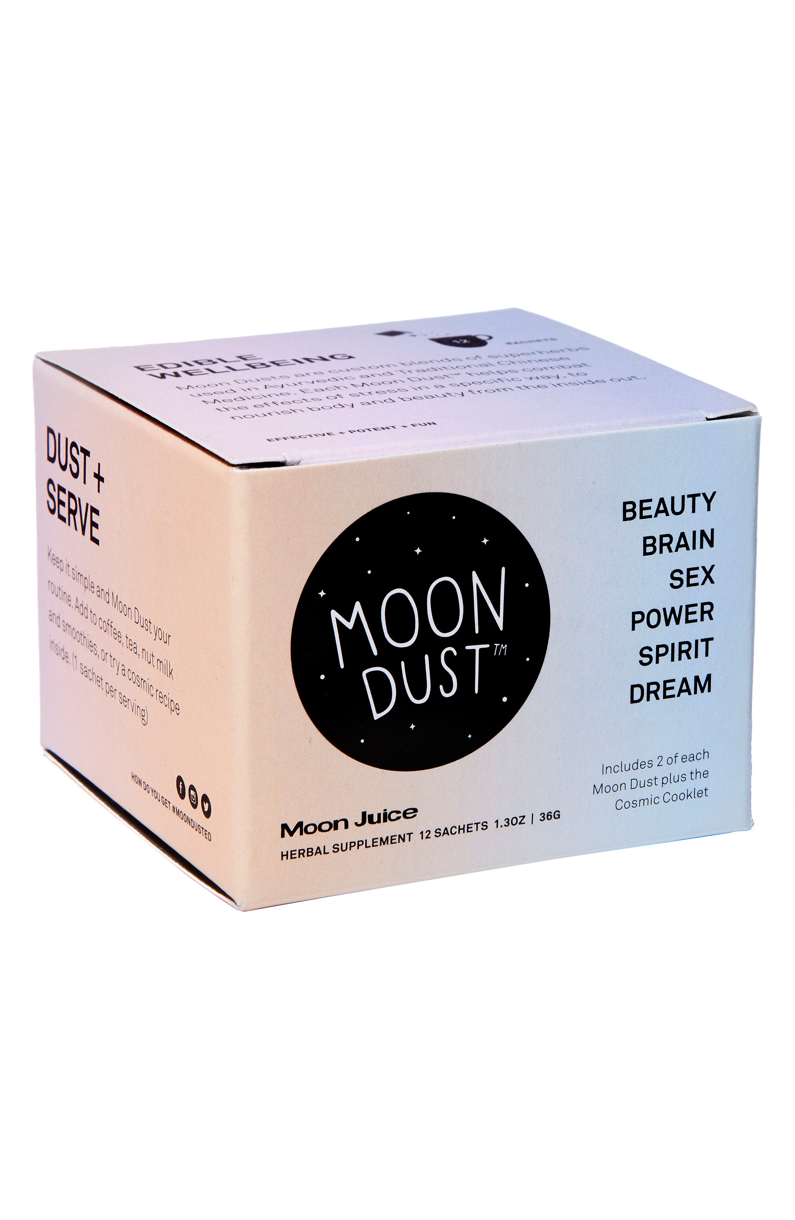 MOON JUICE,                             Moon Dust Set of 12 Assorted Herbal Supplement Sachets,                             Main thumbnail 1, color,                             000