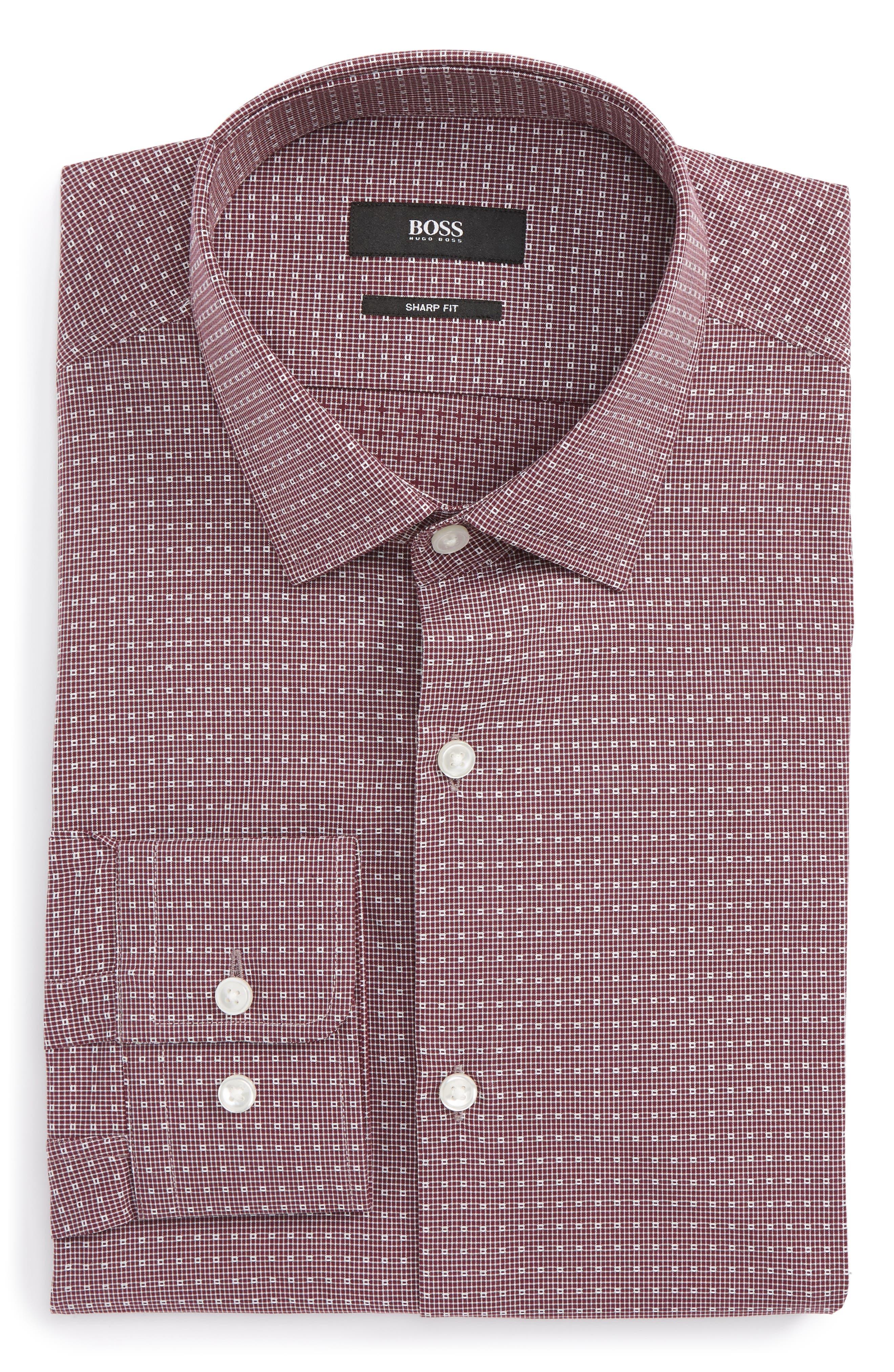 Marley Sharp Fit Check Dress Shirt,                         Main,                         color, 606