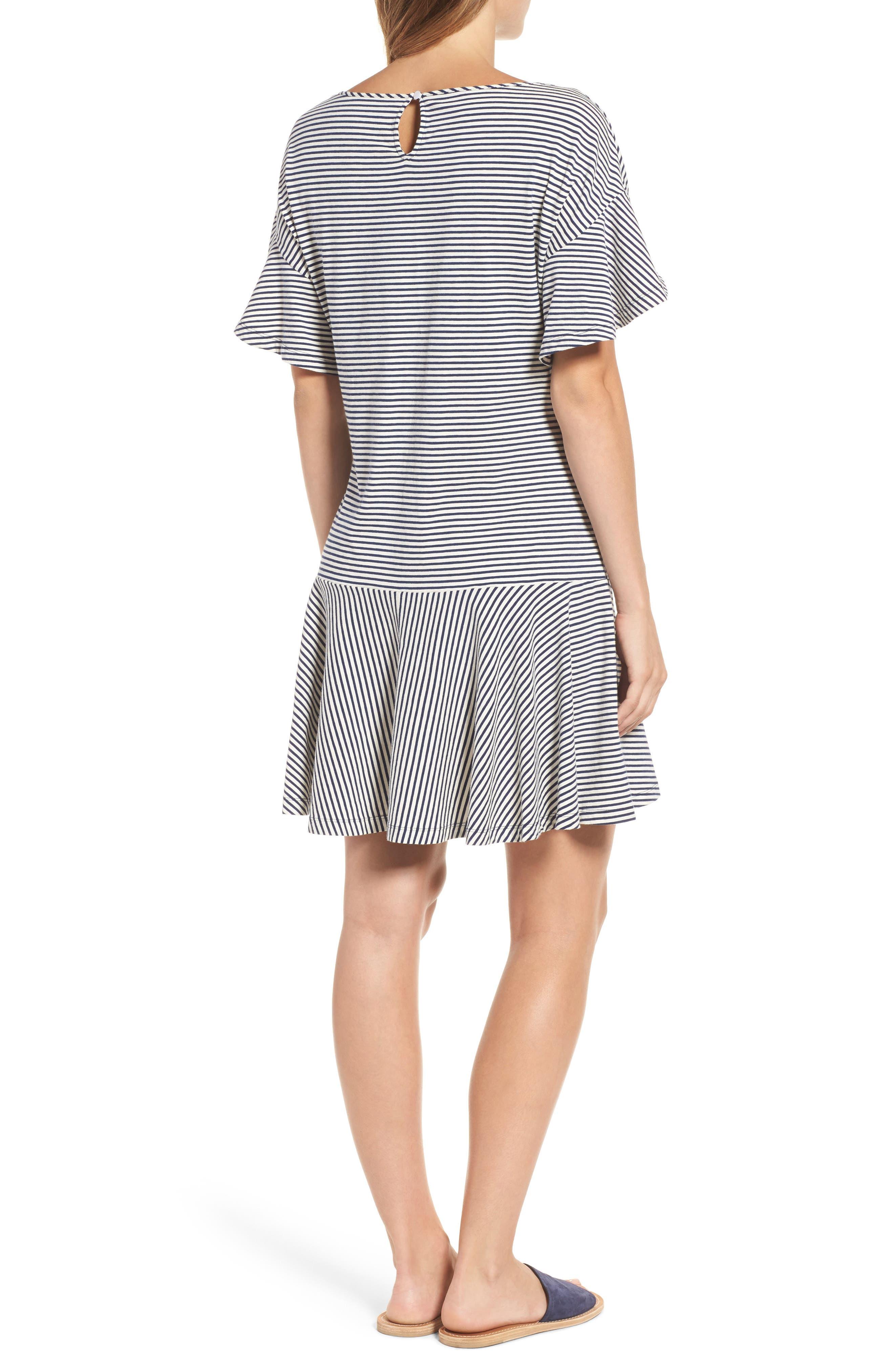 Stripe Flounce Dress,                             Alternate thumbnail 2, color,