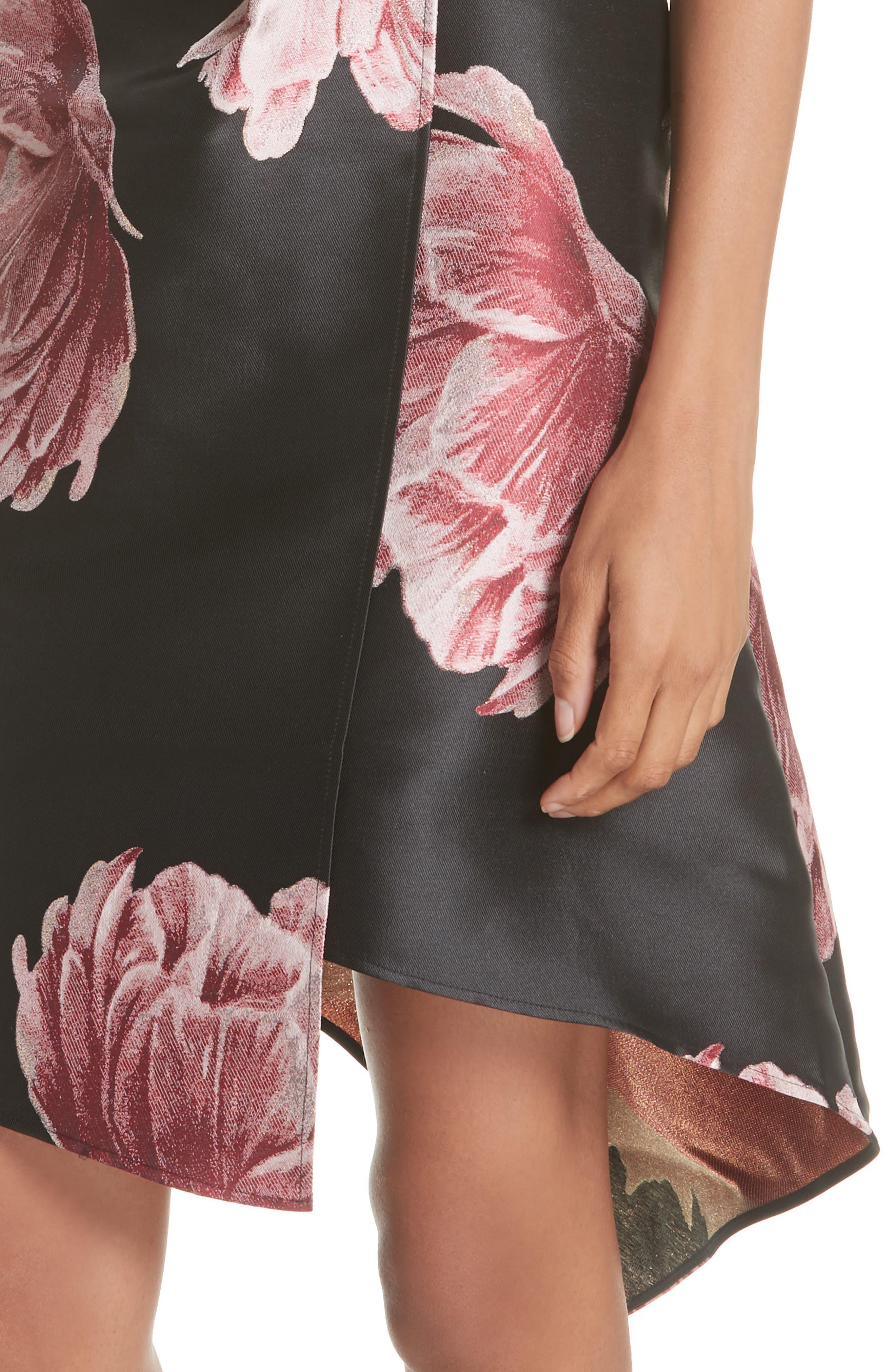 Eyvii Bay of Honour Asymmetrical Dress,                             Alternate thumbnail 4, color,                             001