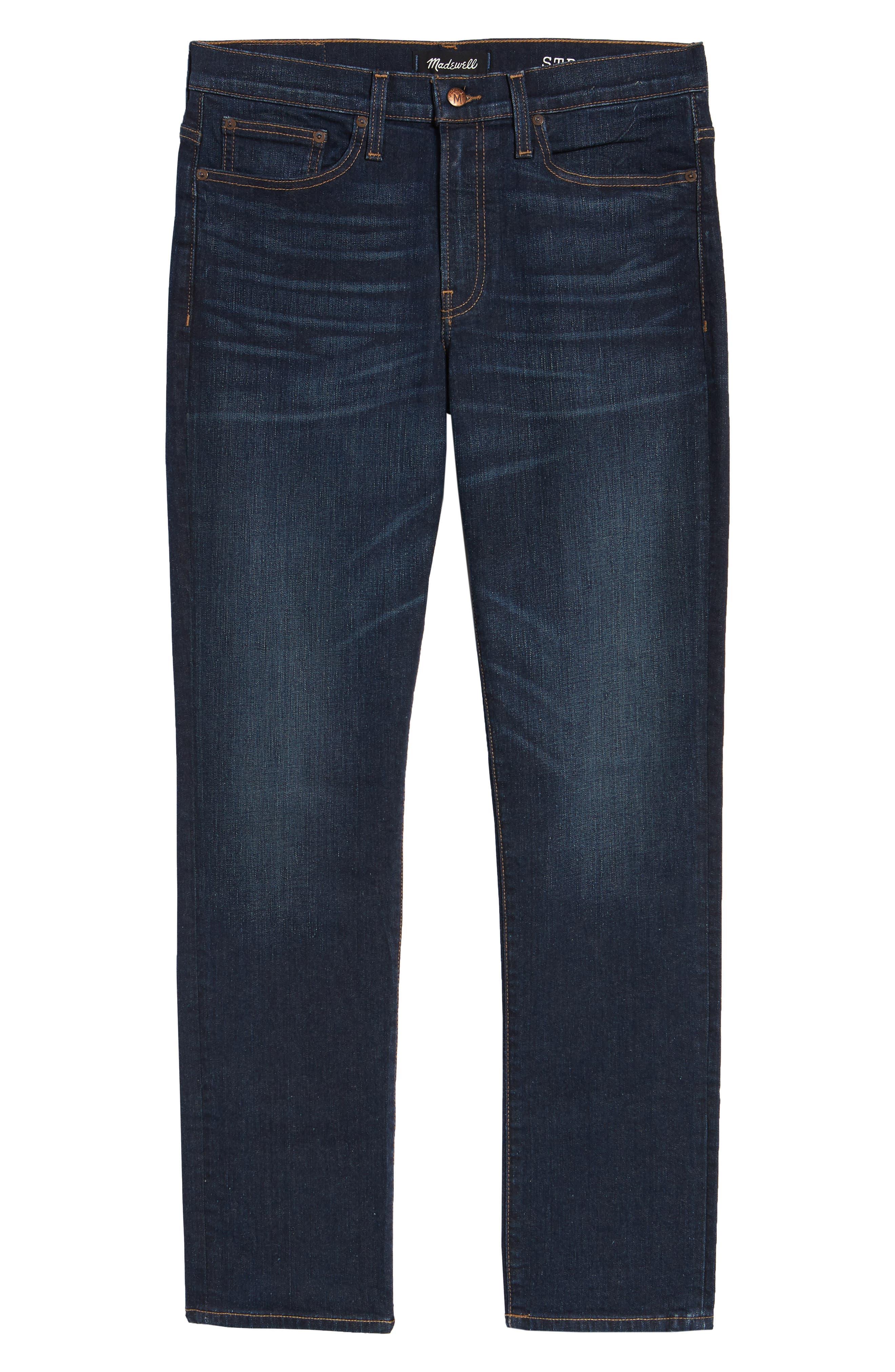 Slim Straight Fit Jeans,                             Alternate thumbnail 4, color,                             BRENFORD