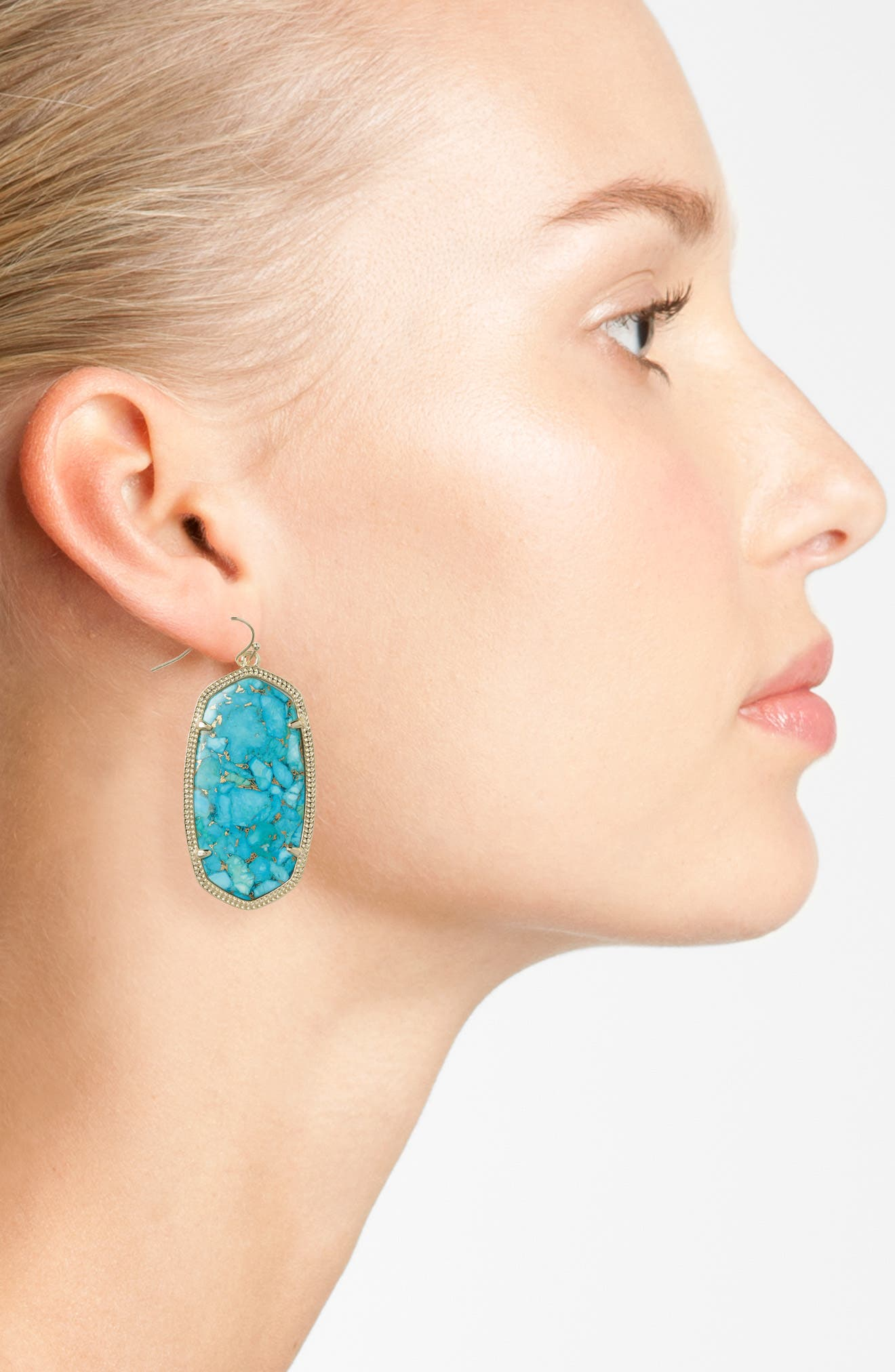 Danielle - Large Oval Statement Earrings,                             Alternate thumbnail 156, color,