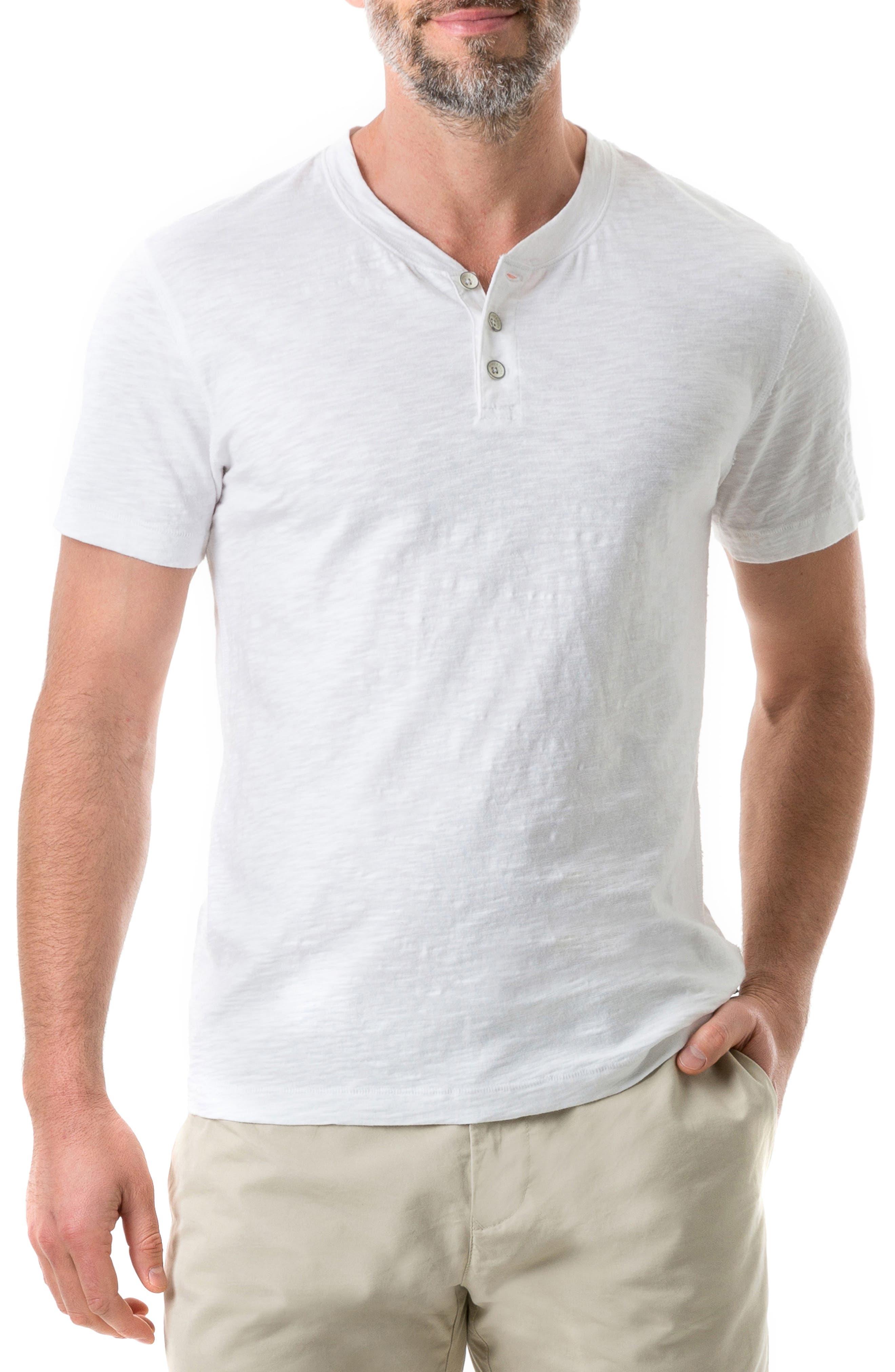 RODD & GUNN Milton Henley T-Shirt, Main, color, NATURAL