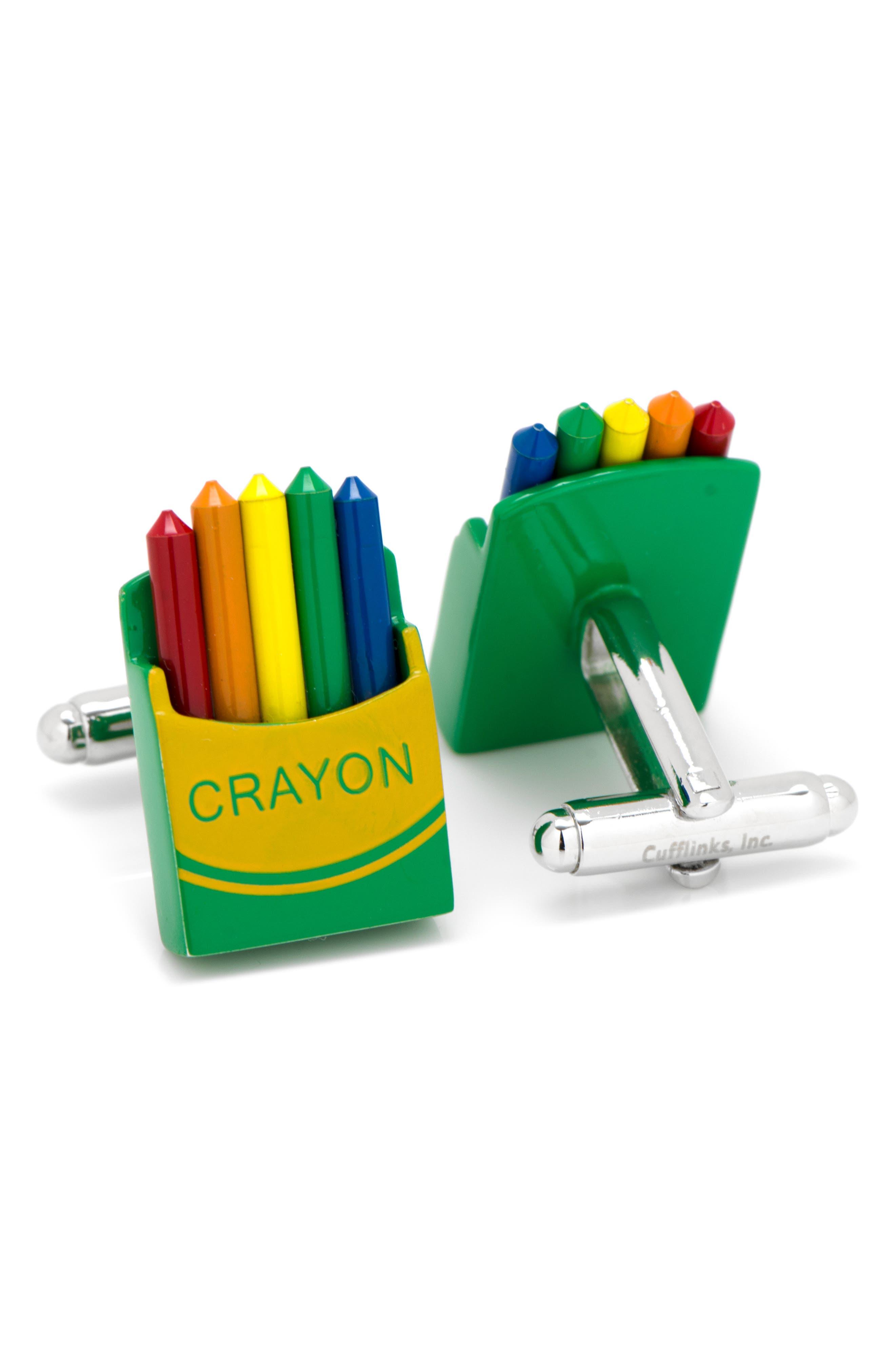 Crayon Box Cuff Links,                             Alternate thumbnail 2, color,                             YELLOW