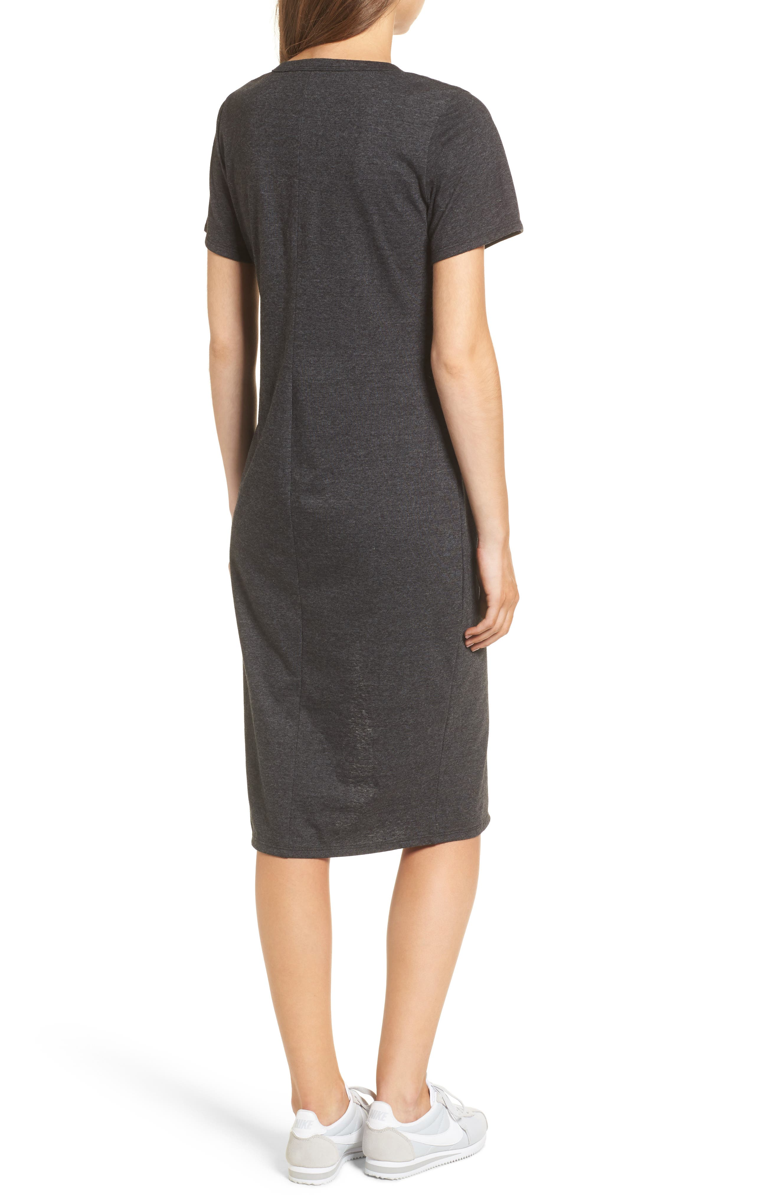 Knee Length T-Shirt Dress,                             Alternate thumbnail 2, color,                             034