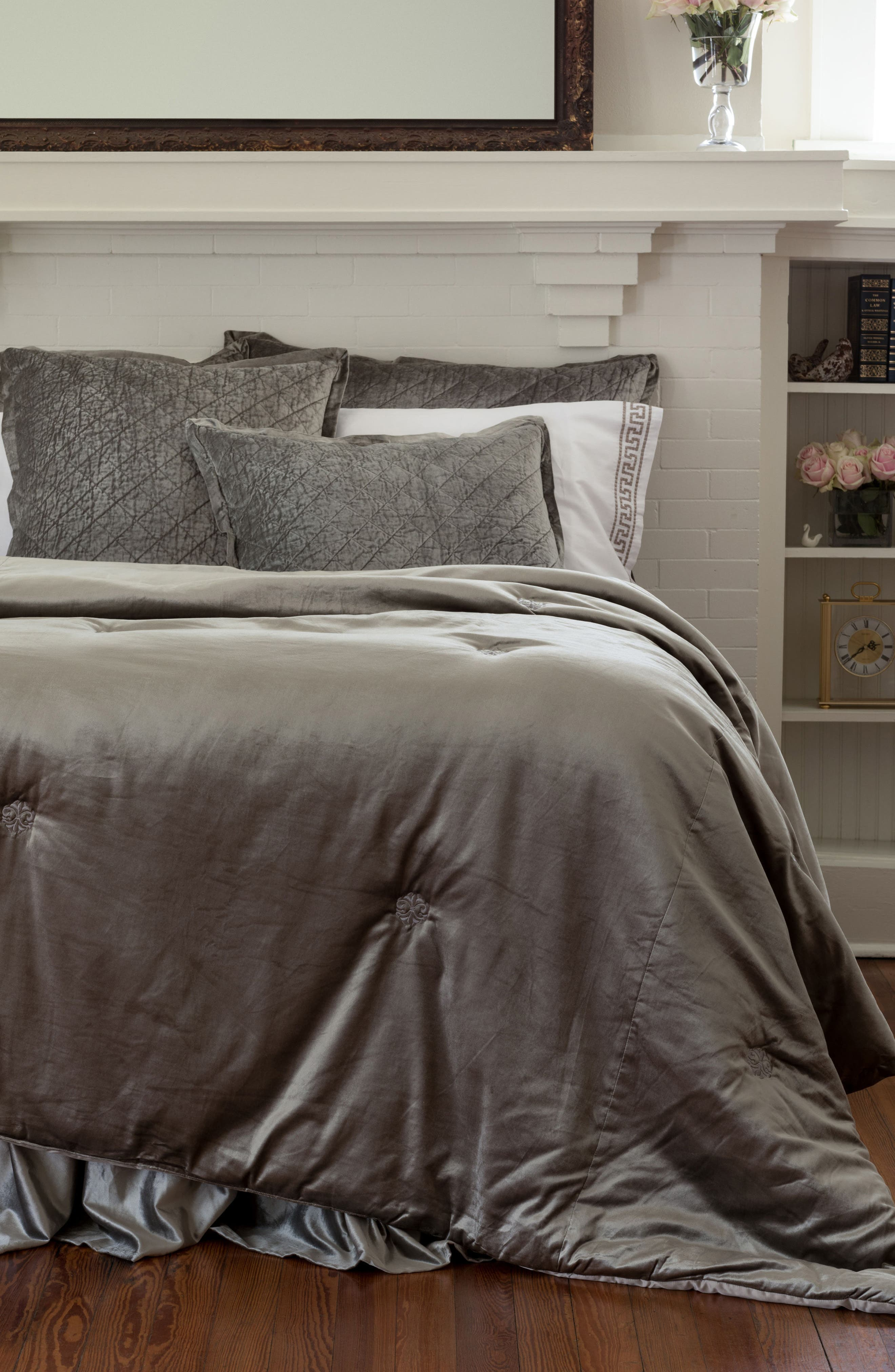 Chloe Comforter,                         Main,                         color, SILVER