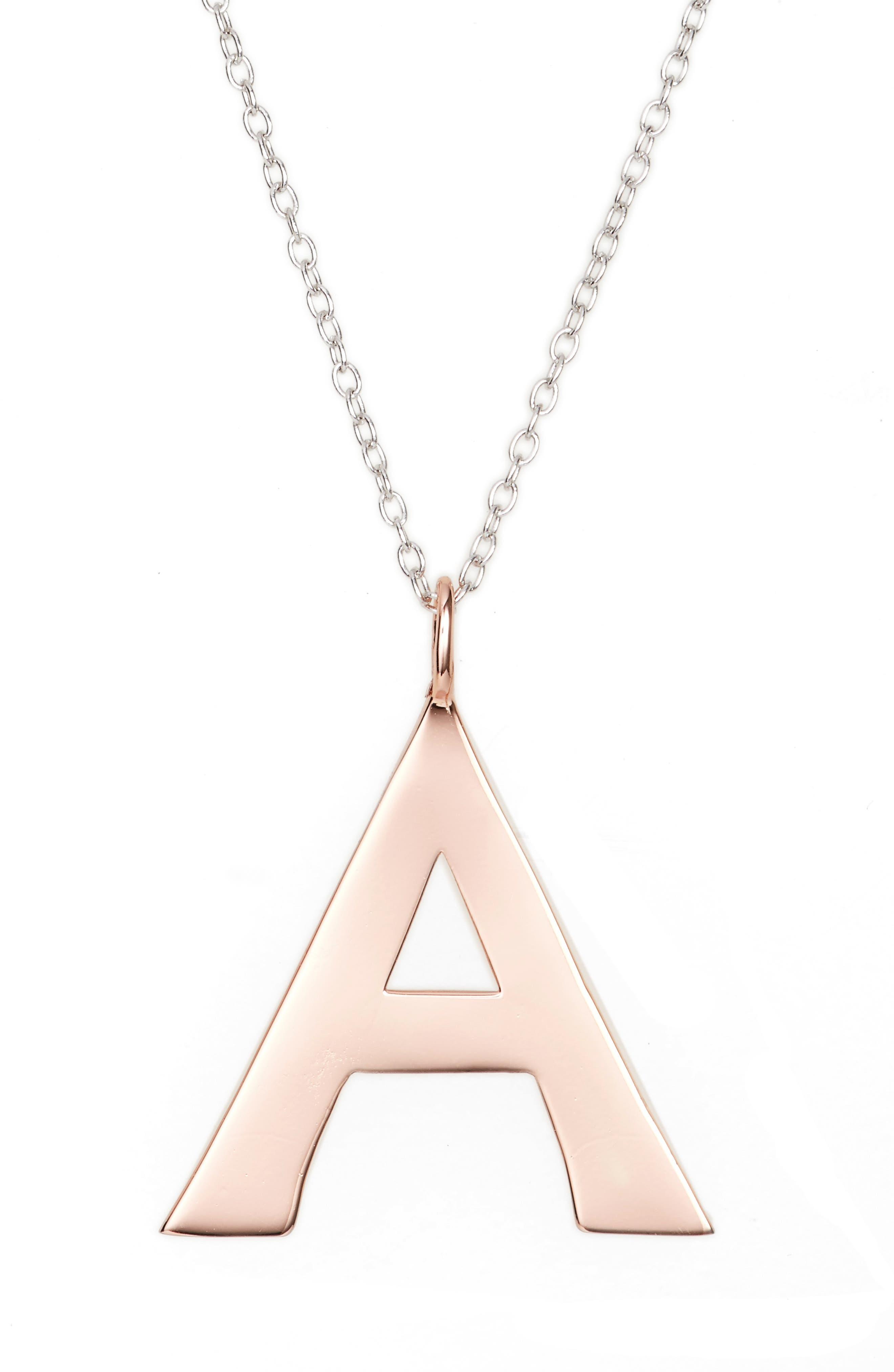 ARGENTO VIVO,                             Initial Pendant Necklace,                             Alternate thumbnail 2, color,                             650