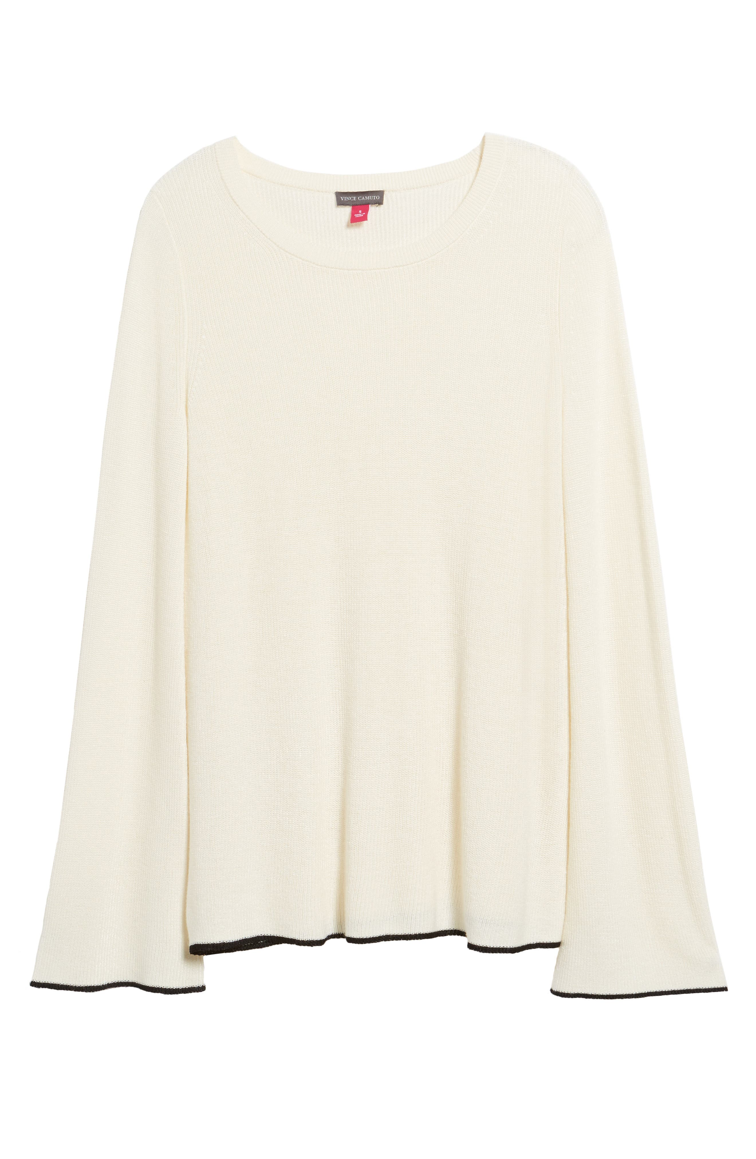 Tipped Bell Sleeve Sweater,                             Alternate thumbnail 39, color,