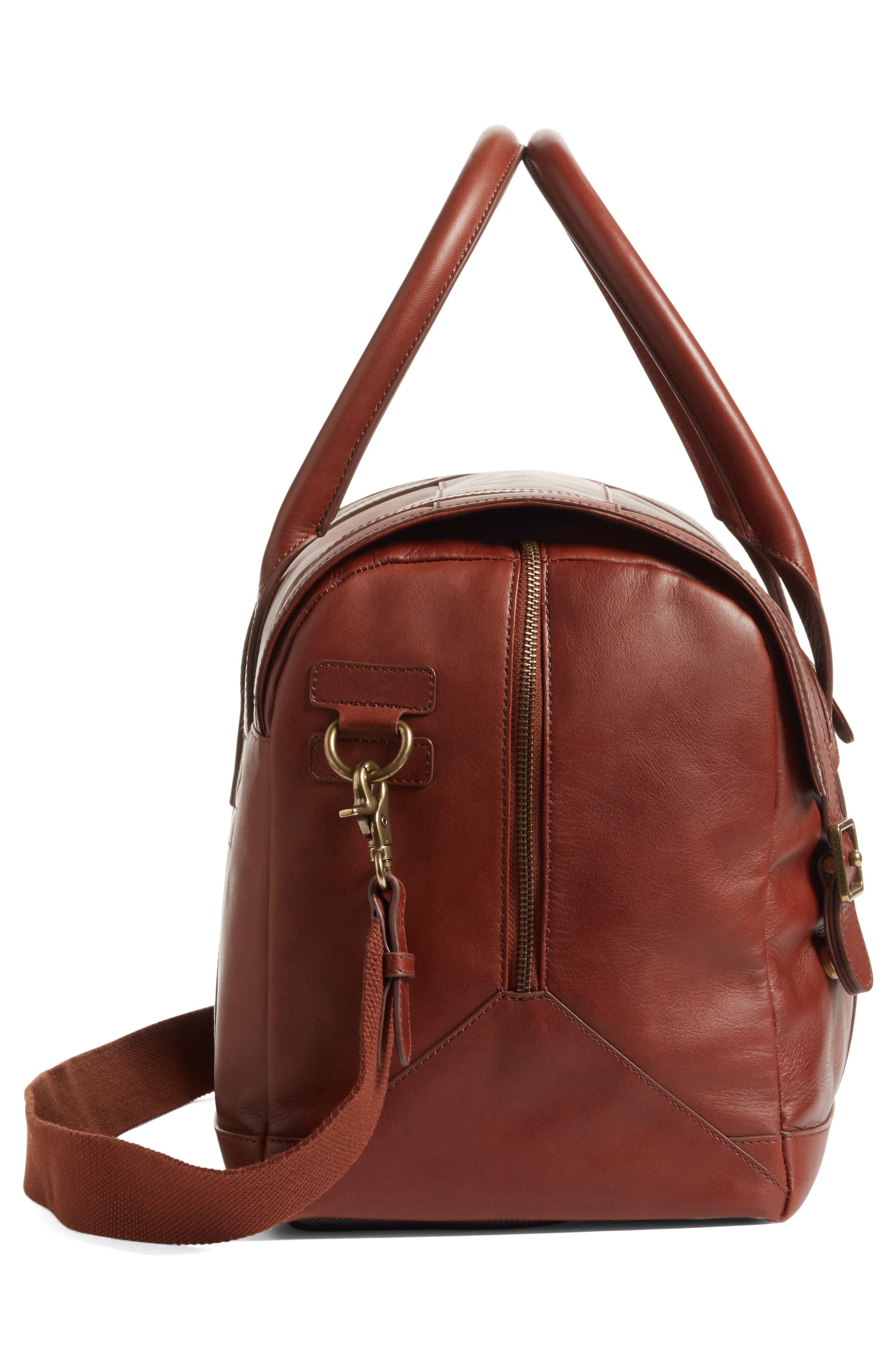 Leather Duffel Bag,                             Alternate thumbnail 10, color,