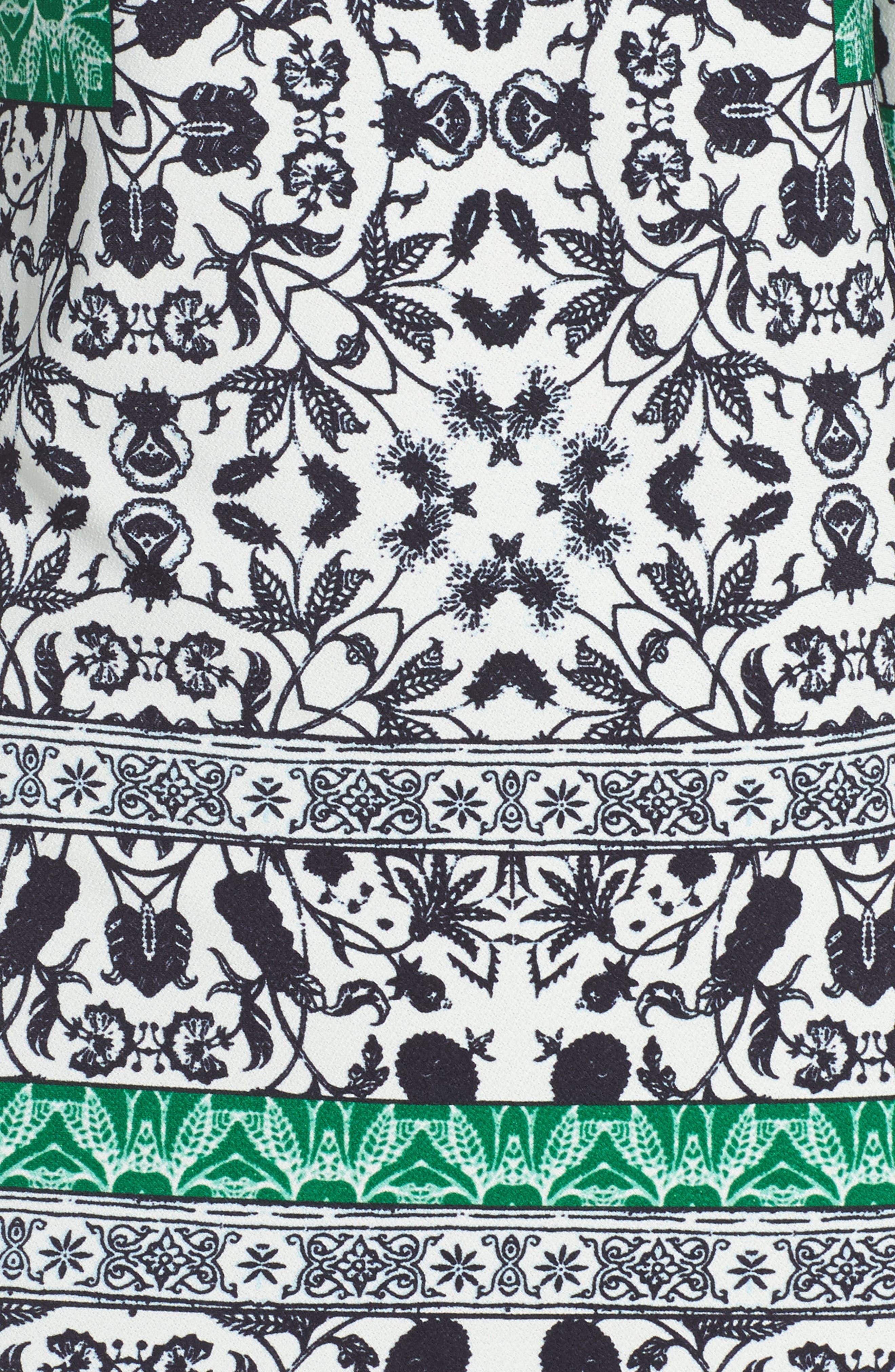 Print Sheath Dress,                             Alternate thumbnail 5, color,                             343