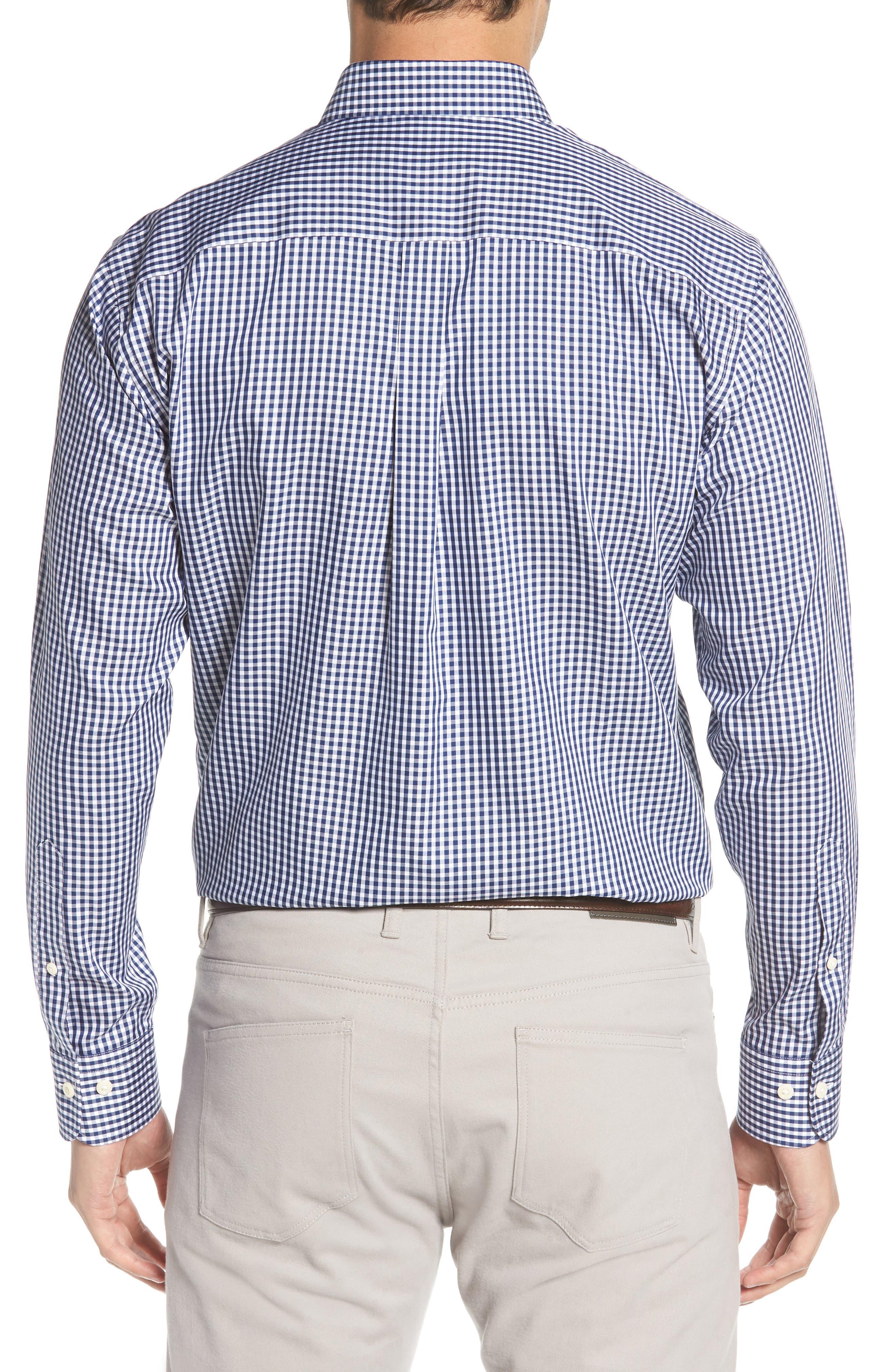 Crown Soft Gingham Sport Shirt,                             Alternate thumbnail 2, color,                             YANKEE BLUE