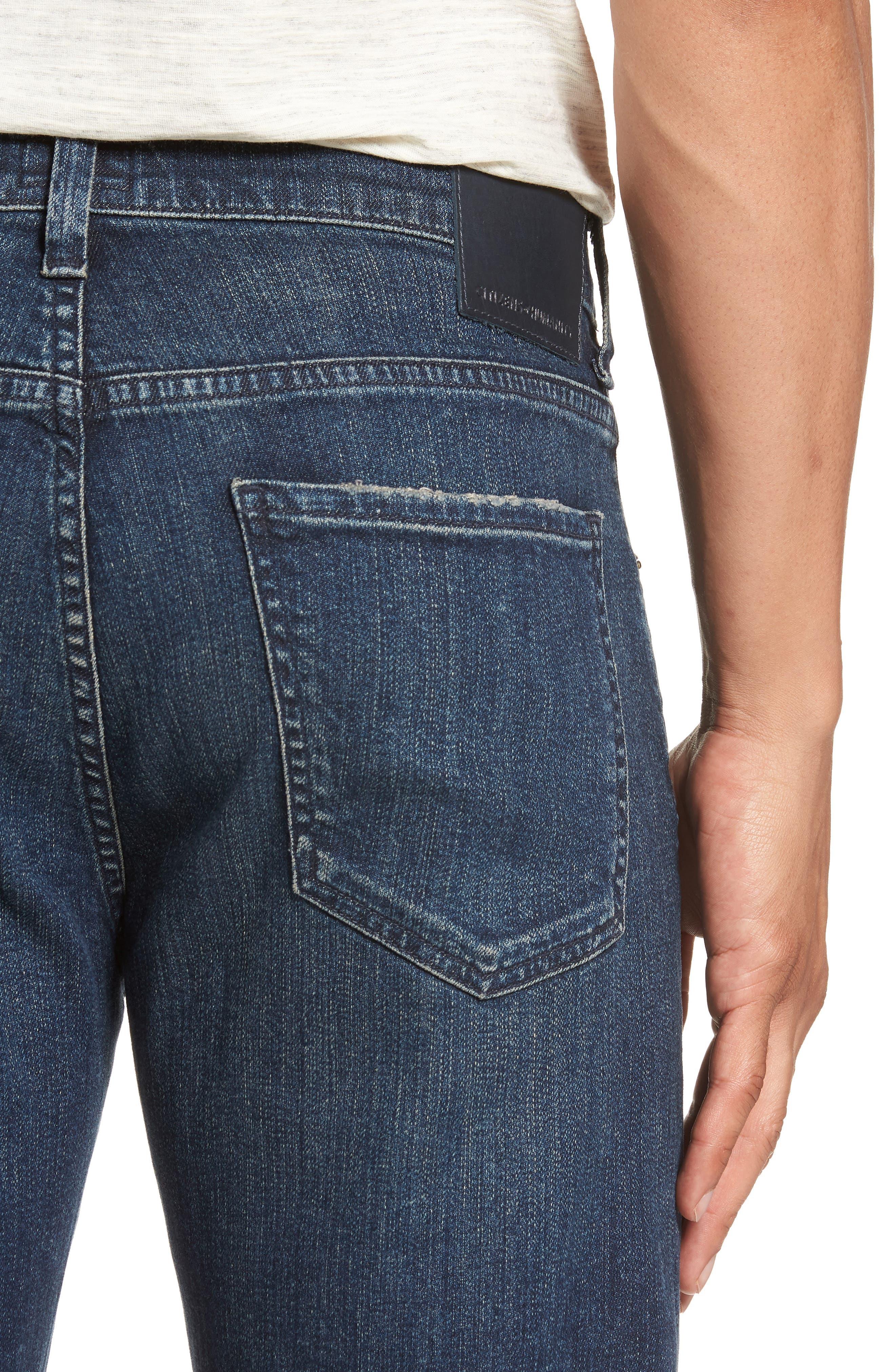 Sid Straight Leg Jeans,                             Alternate thumbnail 4, color,                             BLAZE