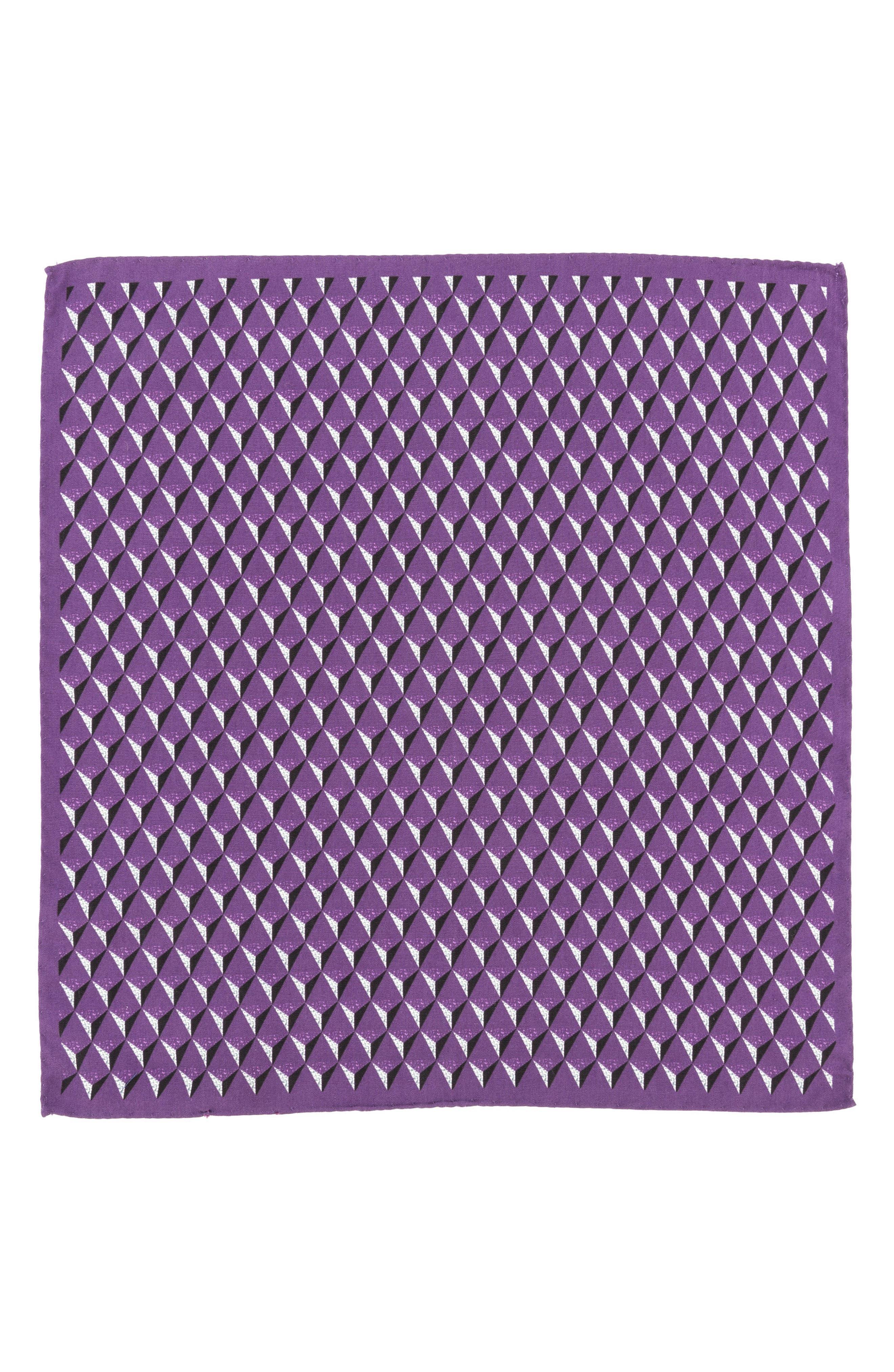 Geometric Silk Pocket Square,                             Alternate thumbnail 11, color,