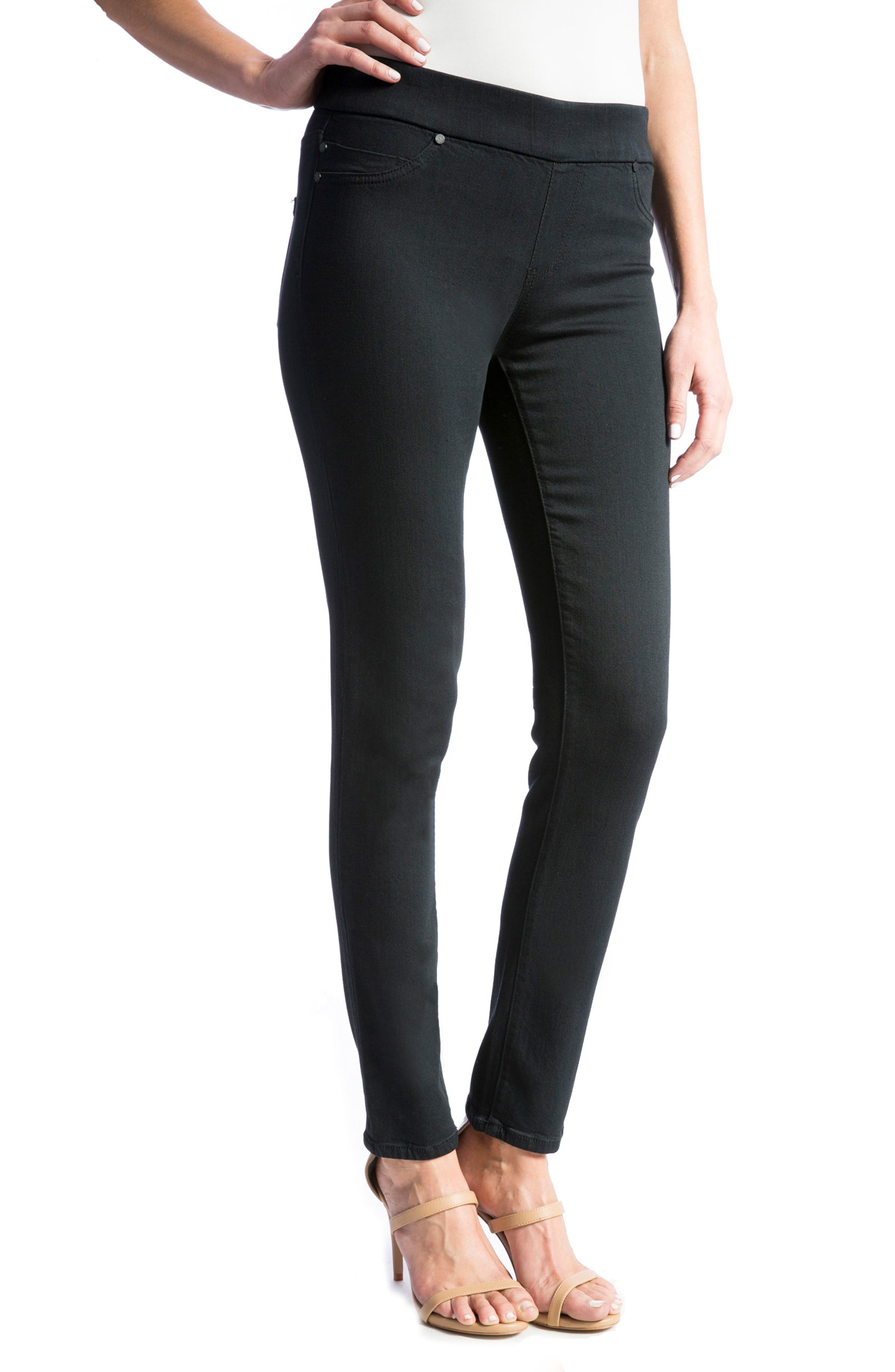 Sienna Mid Rise Soft Stretch Denim Leggings,                             Alternate thumbnail 4, color,                             008
