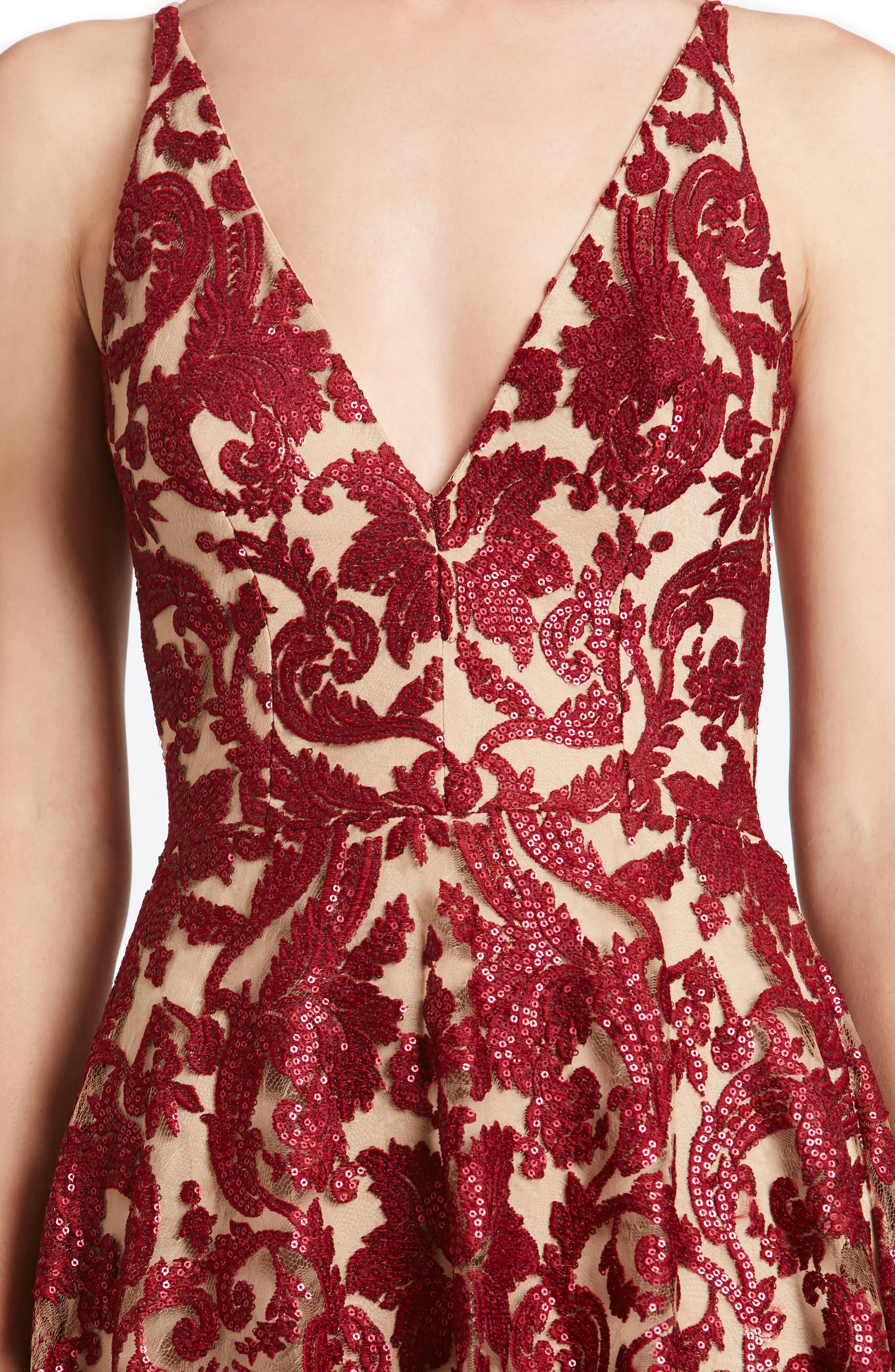 Blair Embellished Fit & Flare Dress,                             Alternate thumbnail 27, color,