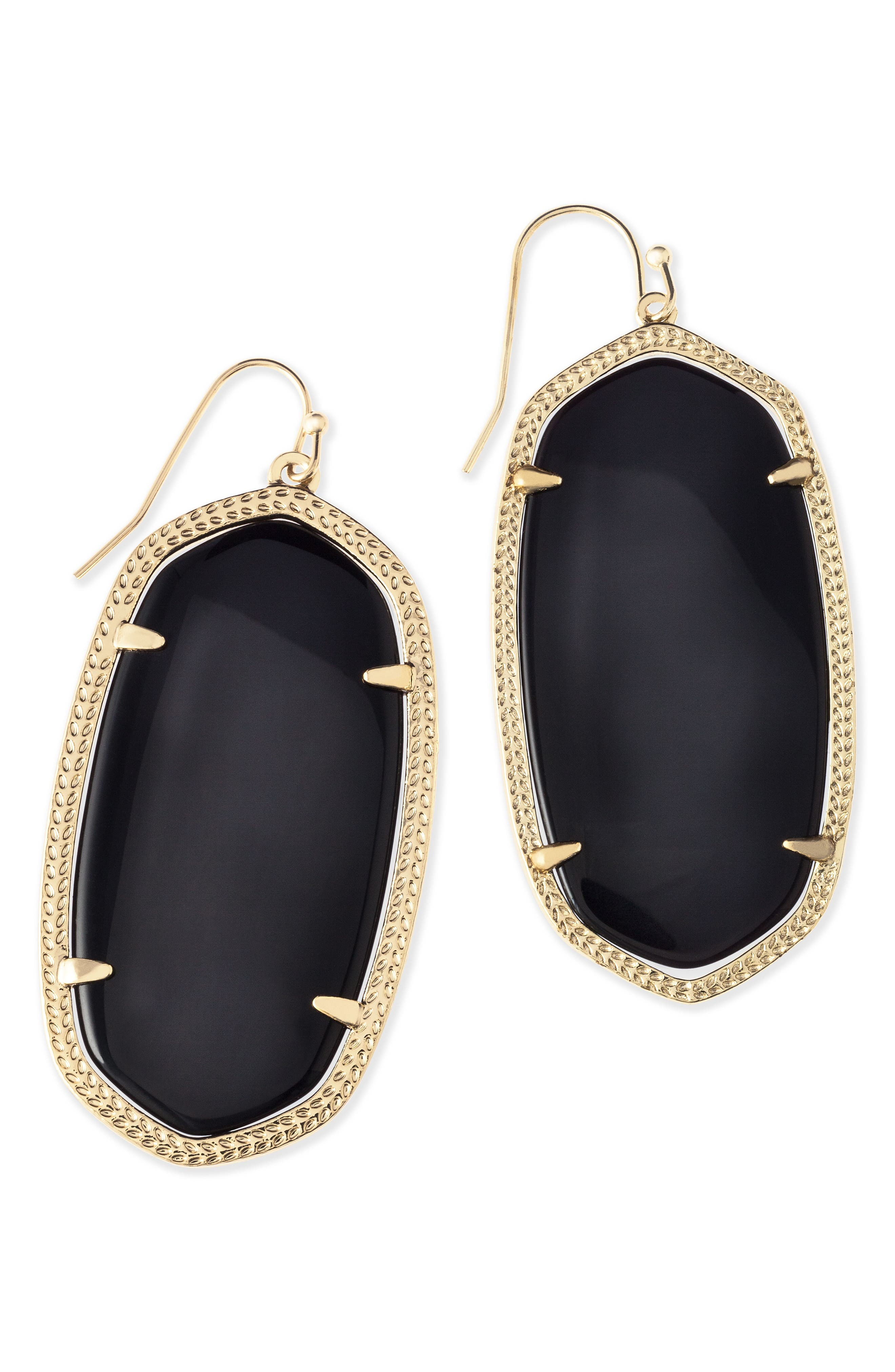 Danielle - Large Oval Statement Earrings,                             Alternate thumbnail 4, color,                             001