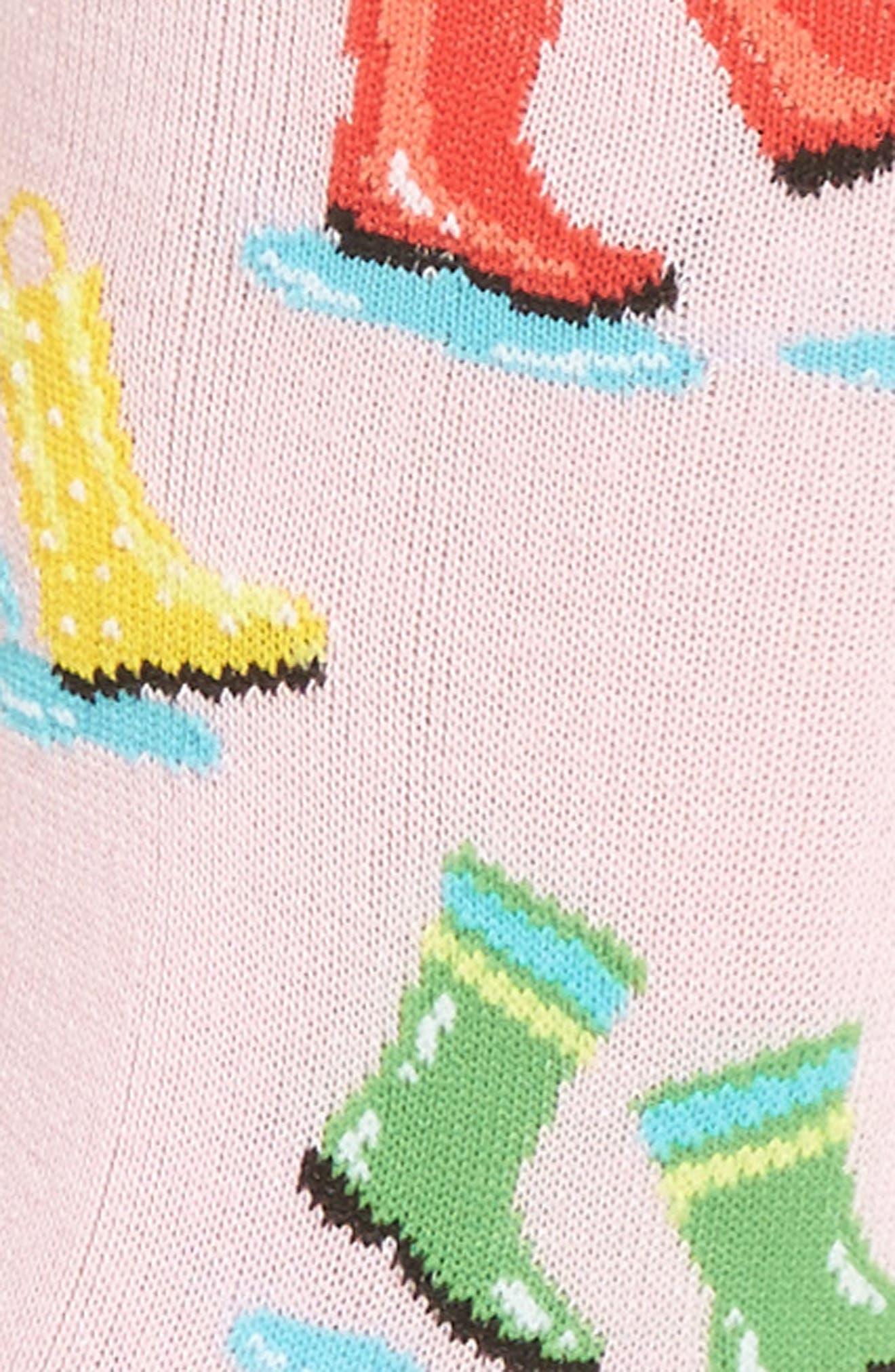 Rainboots Crew Socks,                             Alternate thumbnail 3, color,                             678