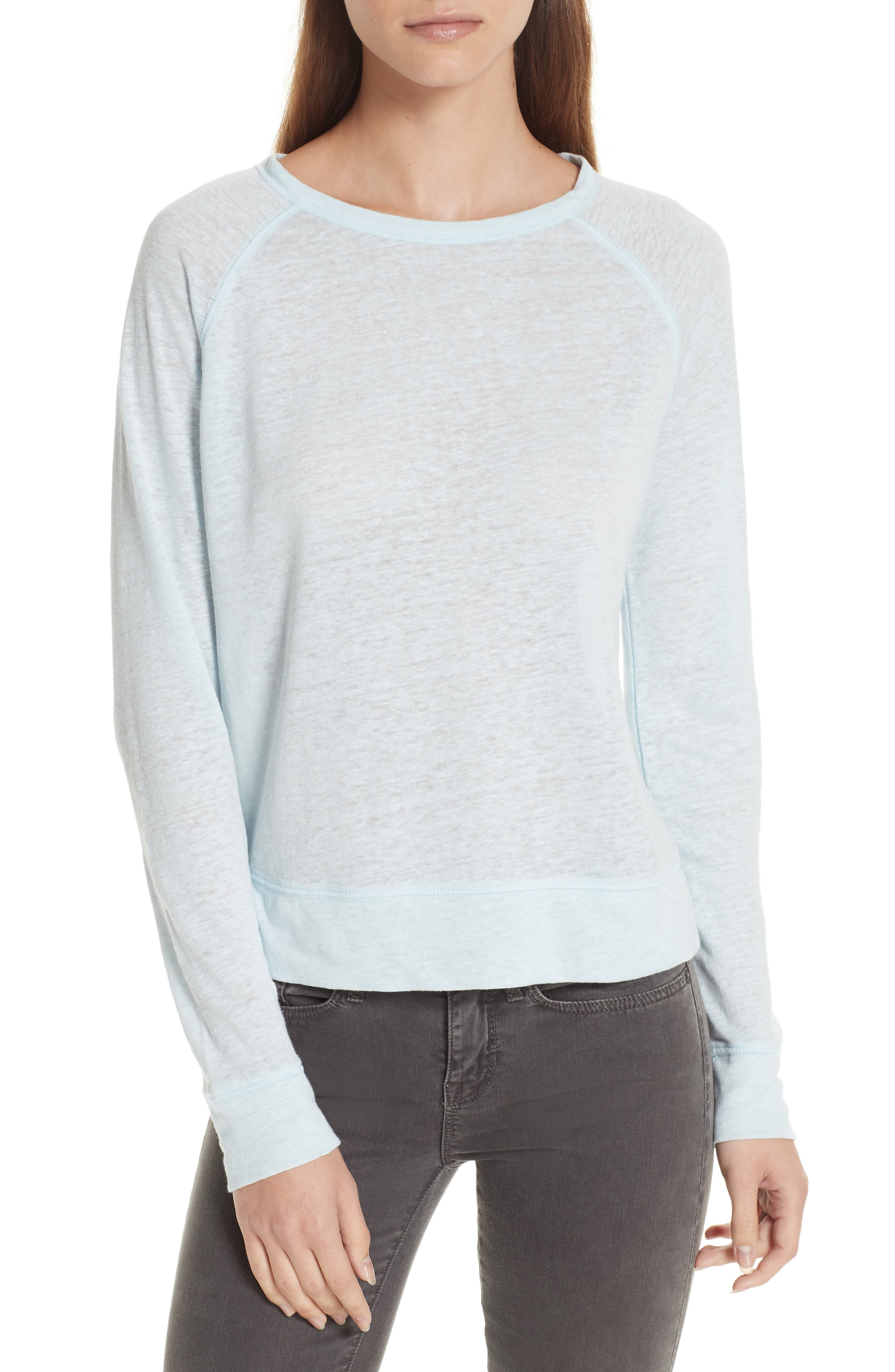 Linen Pullover,                         Main,                         color, ICE