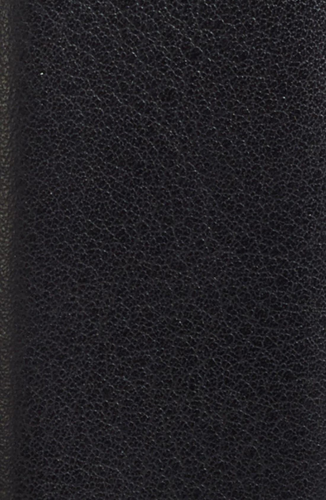 Tubular Leather Belt,                         Main,                         color, 001