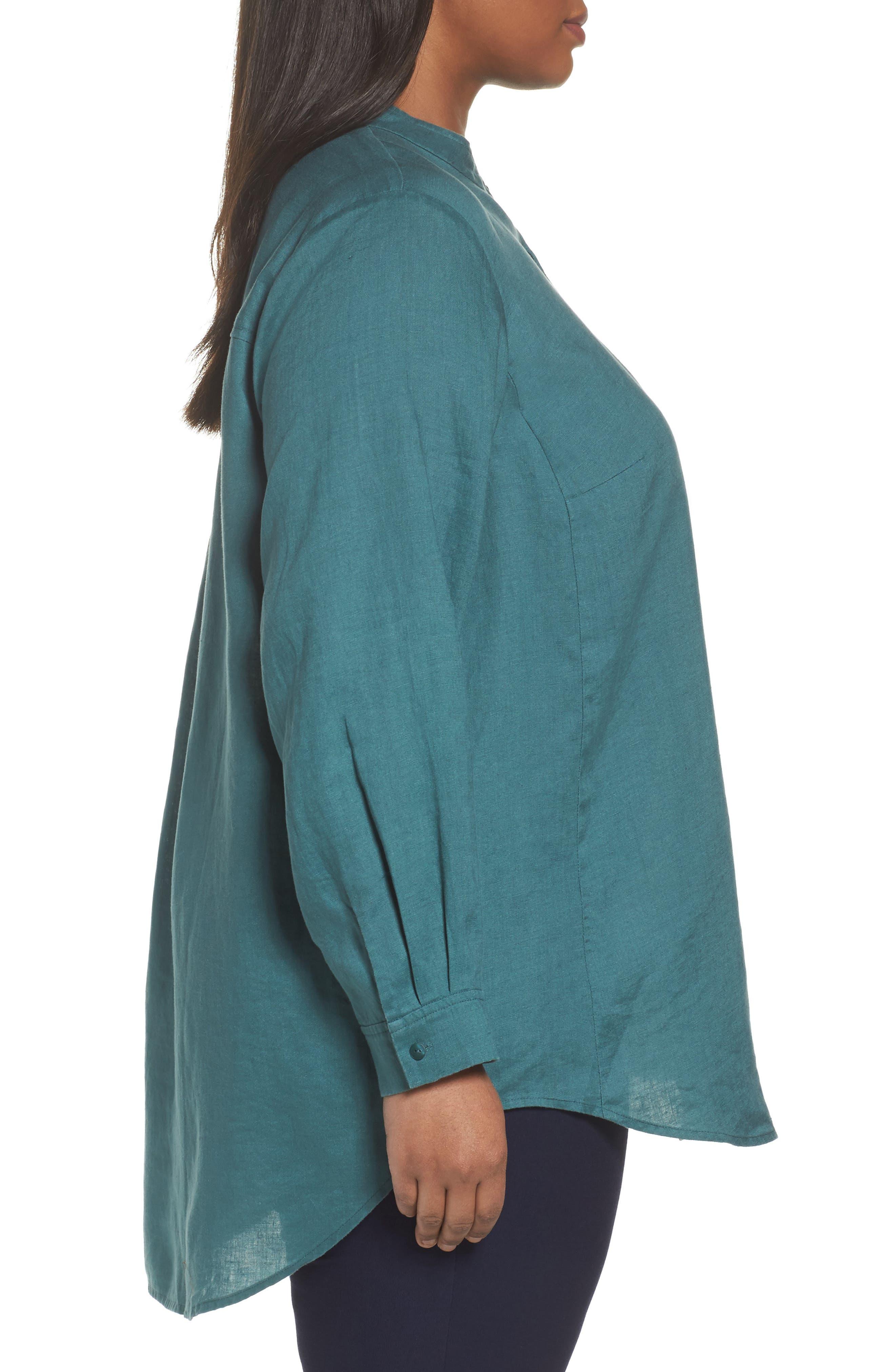 Organic Linen Tunic Shirt,                             Alternate thumbnail 8, color,