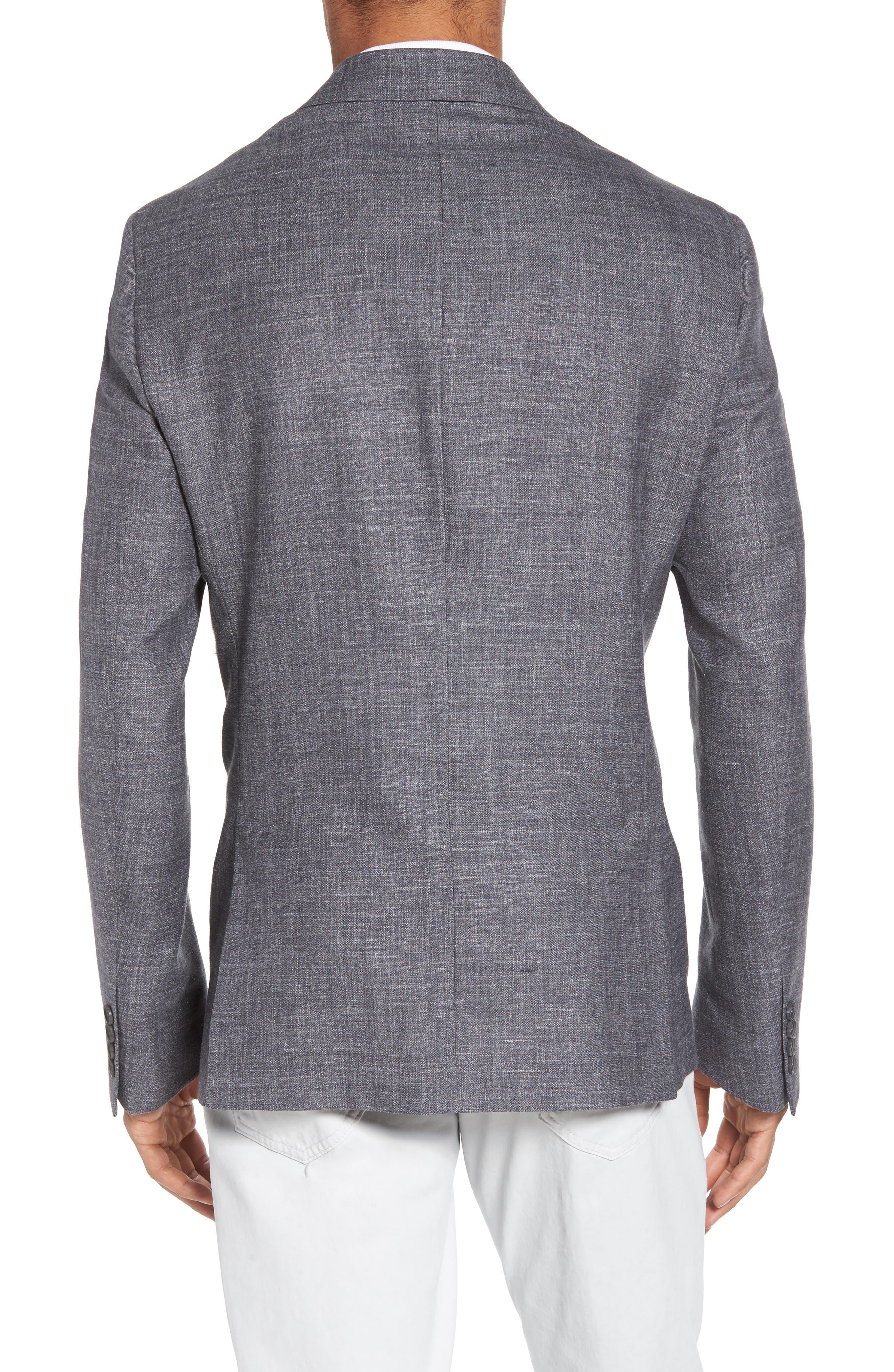 Trim Fit Wool Blend Blazer,                             Alternate thumbnail 2, color,                             020