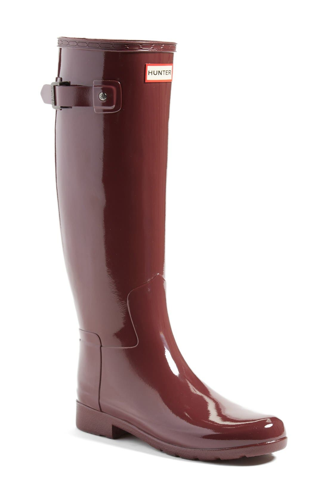 'Original Refined' High Gloss Rain Boot,                             Main thumbnail 9, color,