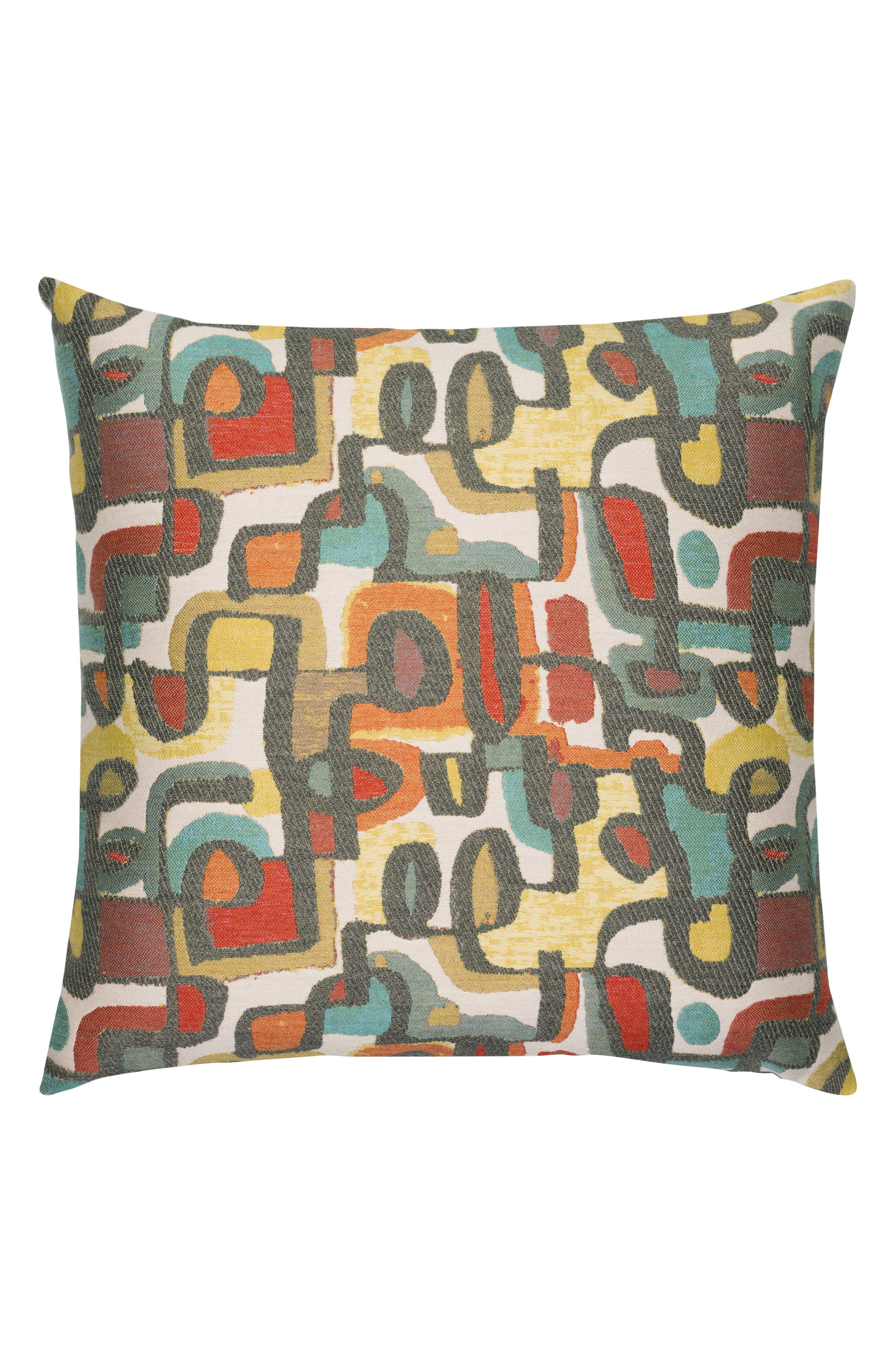 ELAINE SMITH Art Scene Indoor/Outdoor Accent Pillow, Main, color, RED MULTI