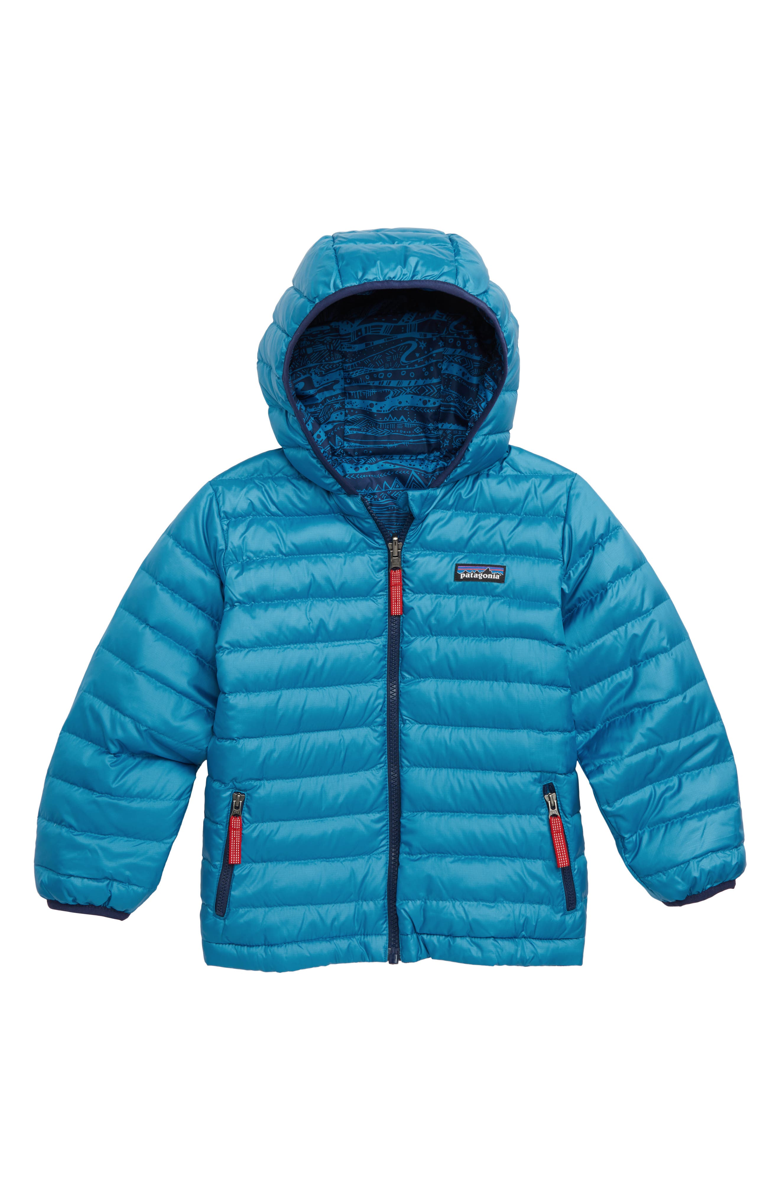Reversible Down Sweater Hoodie,                             Alternate thumbnail 2, color,                             ALBB ALBANIAN: BALKAN BLUE