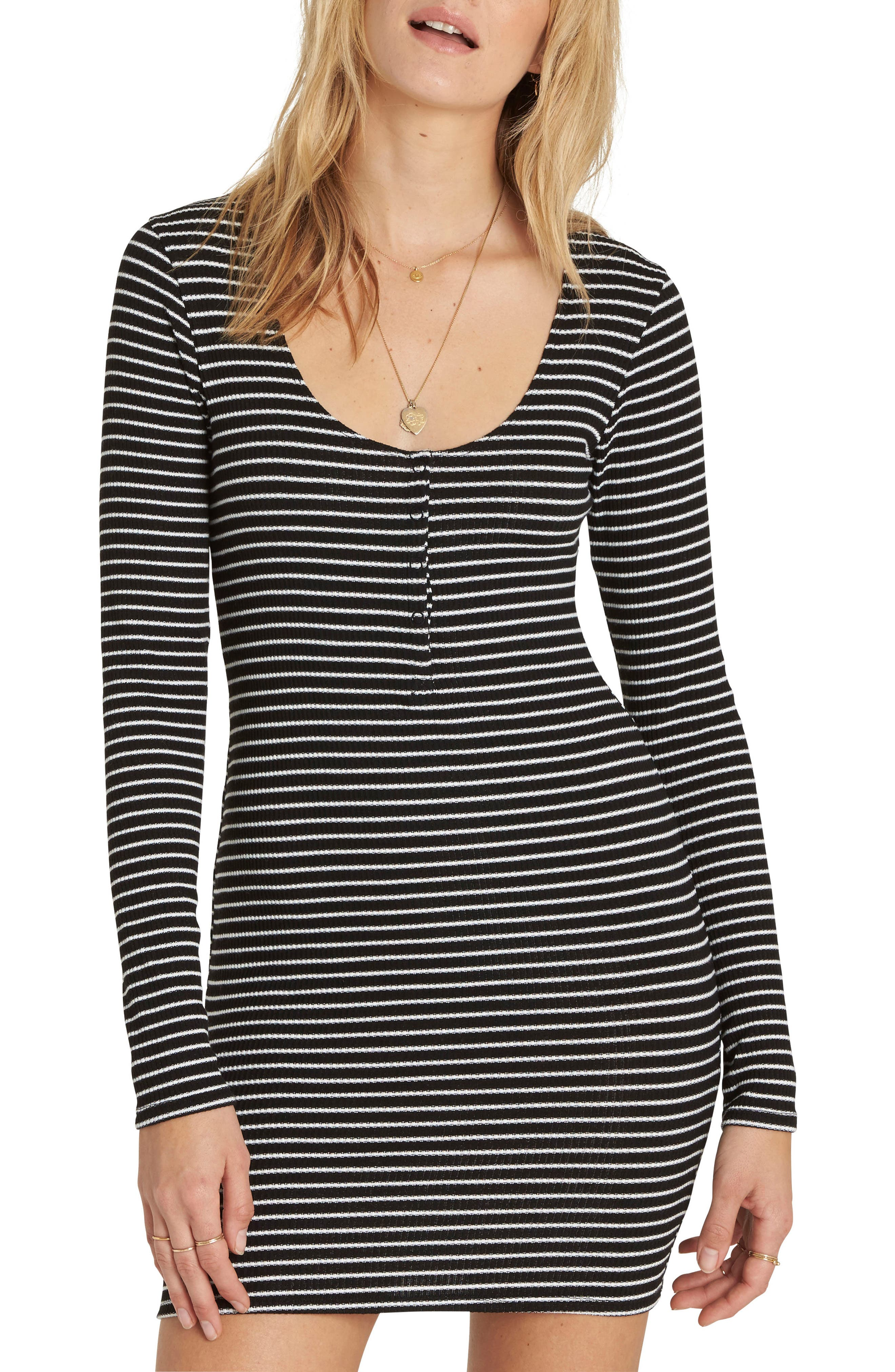 Right Side Henley Minidress,                         Main,                         color,