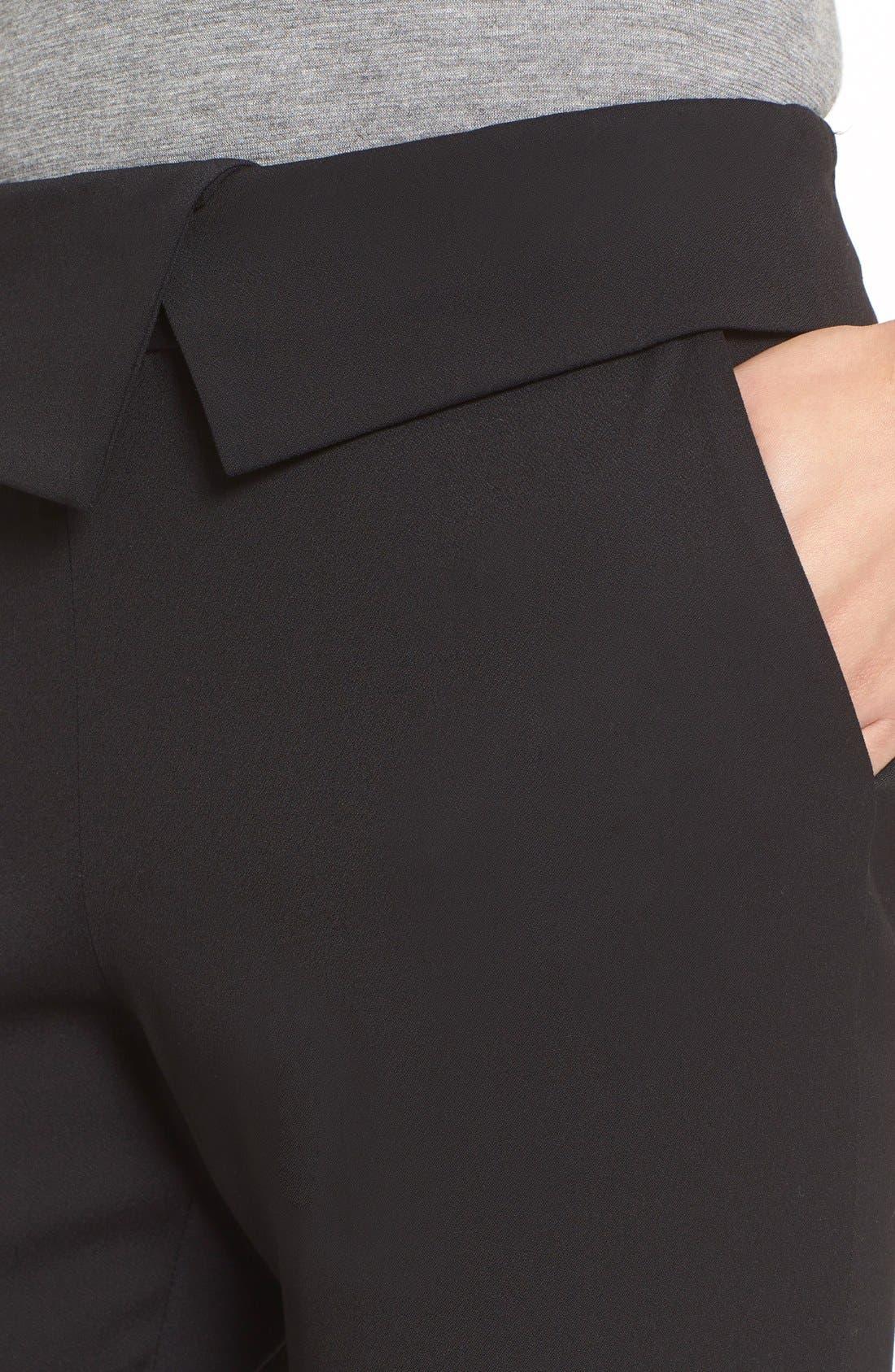 'Delray' Foldover Trousers,                             Alternate thumbnail 5, color,