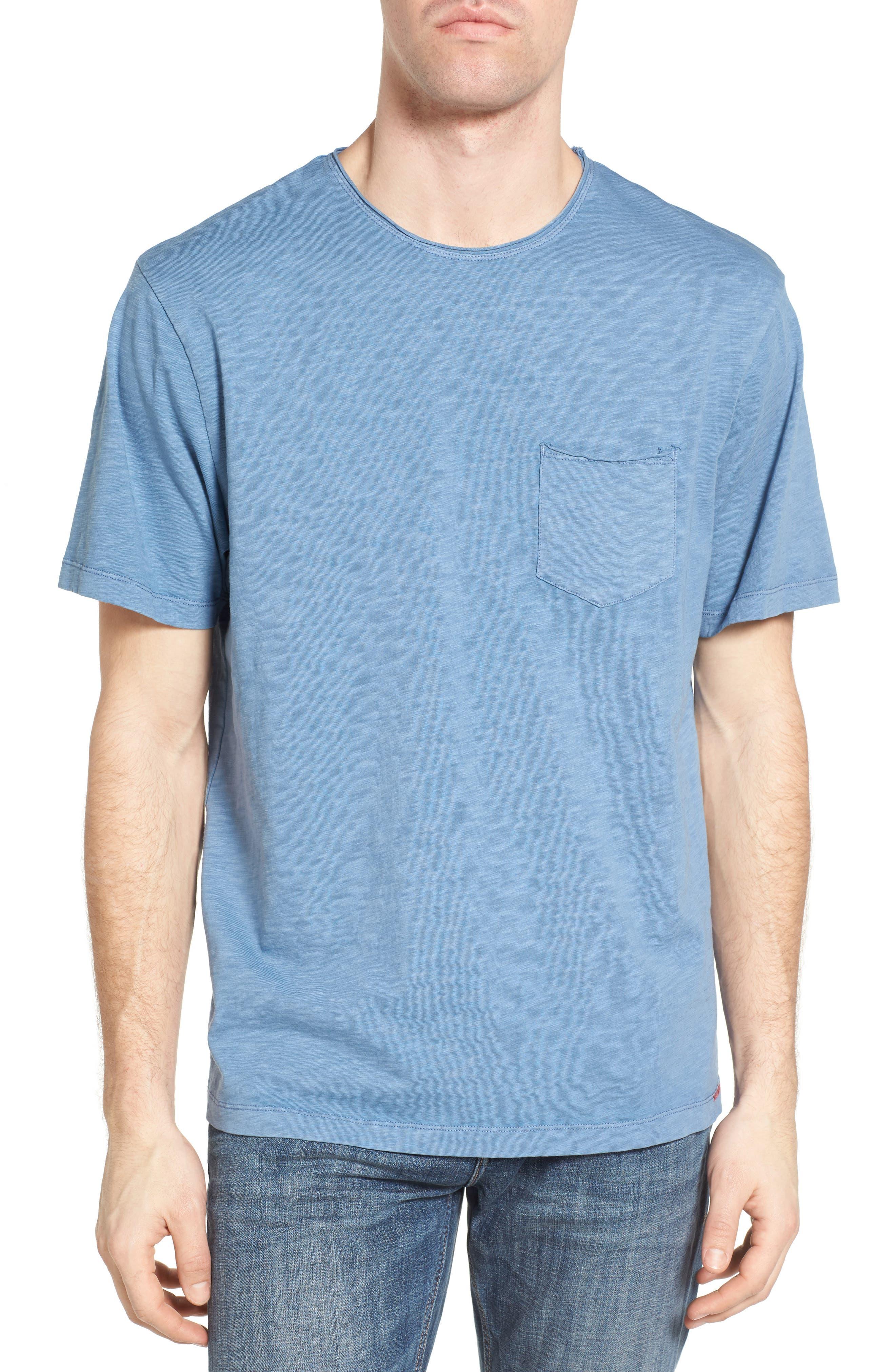 Raw Edge Slub T-Shirt,                             Alternate thumbnail 2, color,                             VINTAGE BLUE