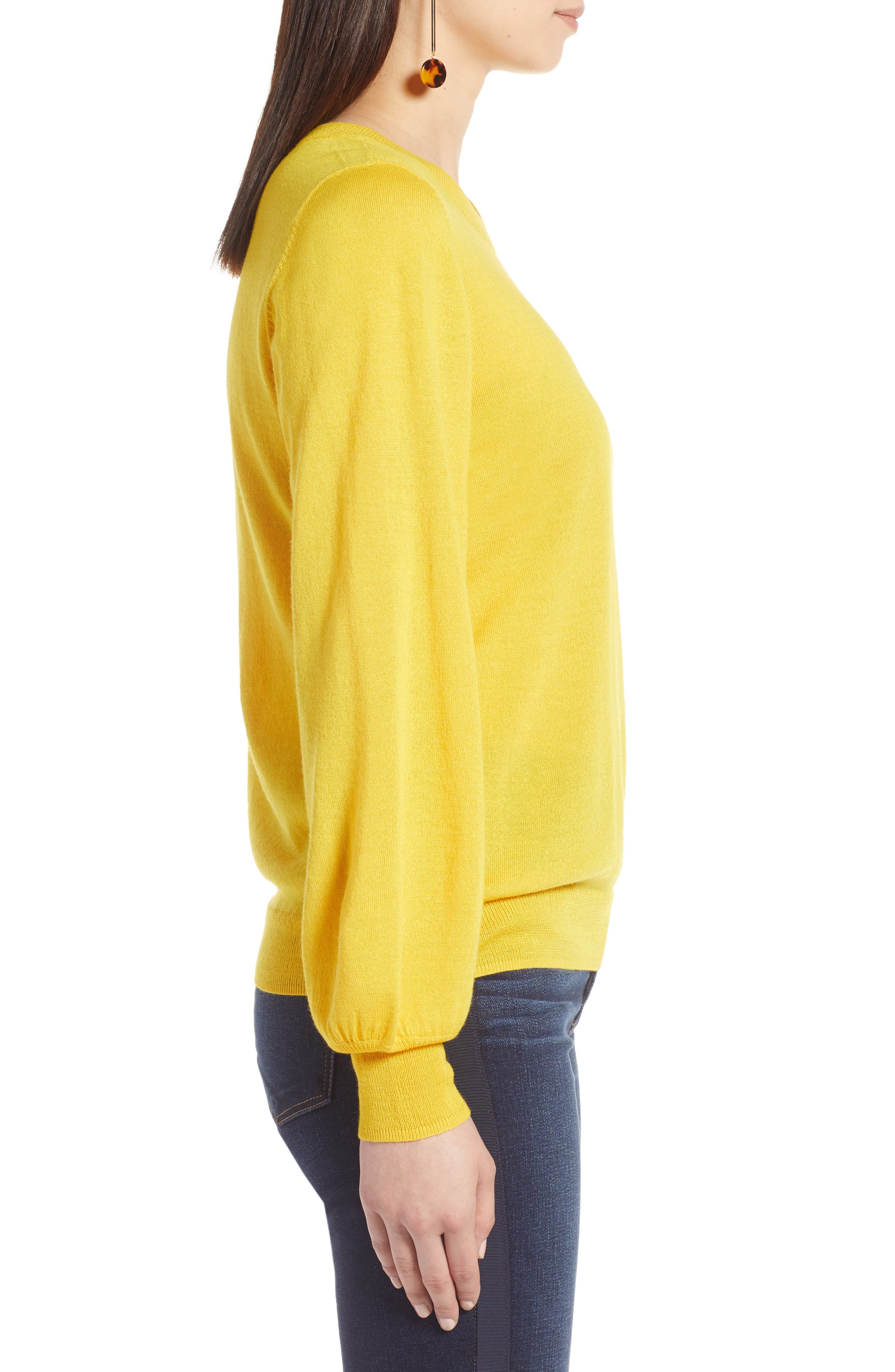 Puff Sleeve Sweater,                             Alternate thumbnail 30, color,