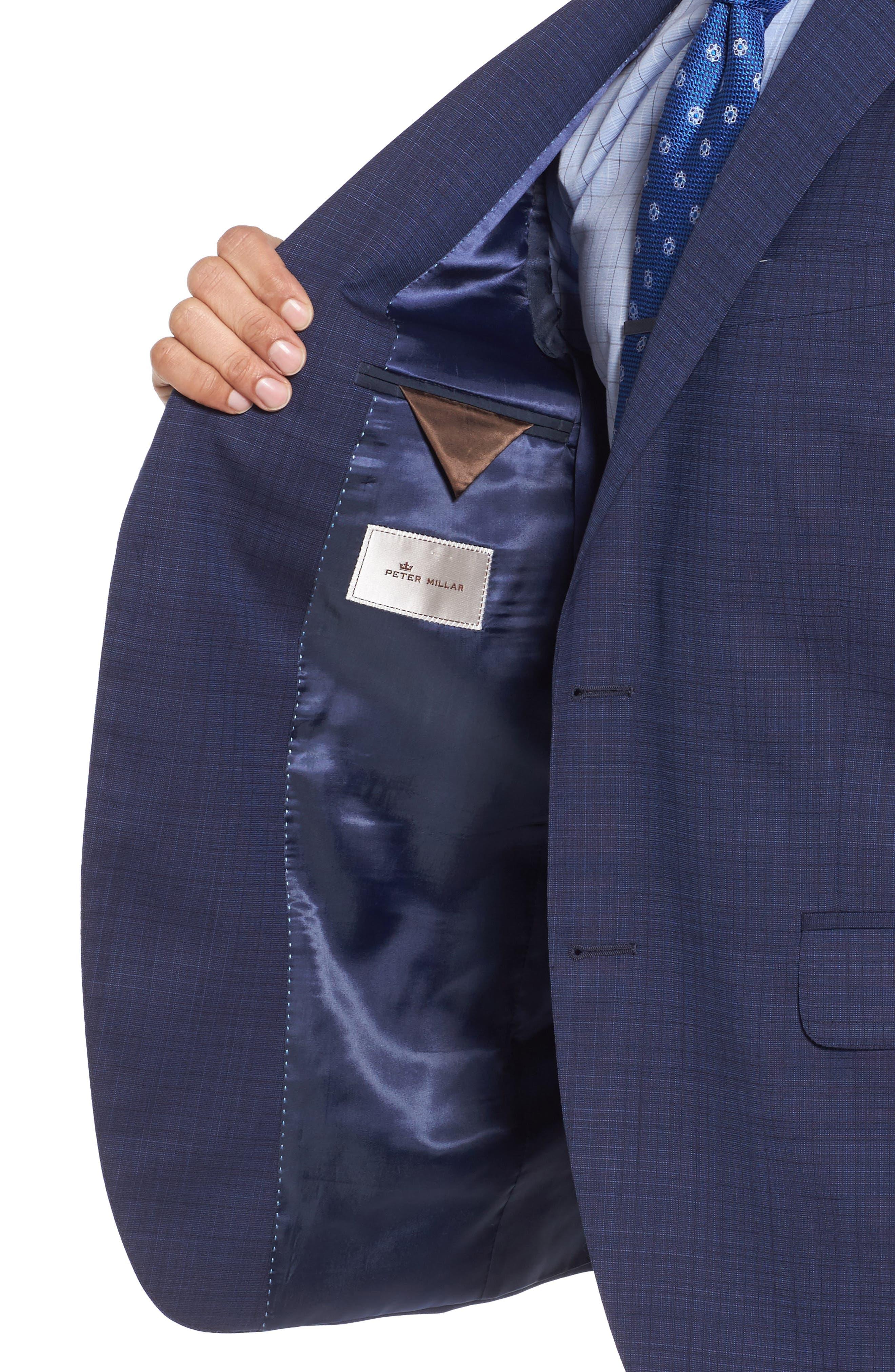 Classic Fit Check Wool Suit,                             Alternate thumbnail 4, color,                             400