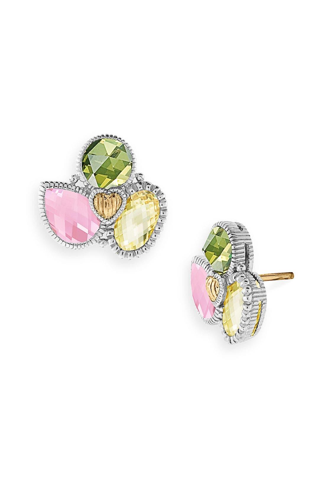 JUDITH RIPKA 'Prism' Cluster Stud Earrings, Main, color, 040