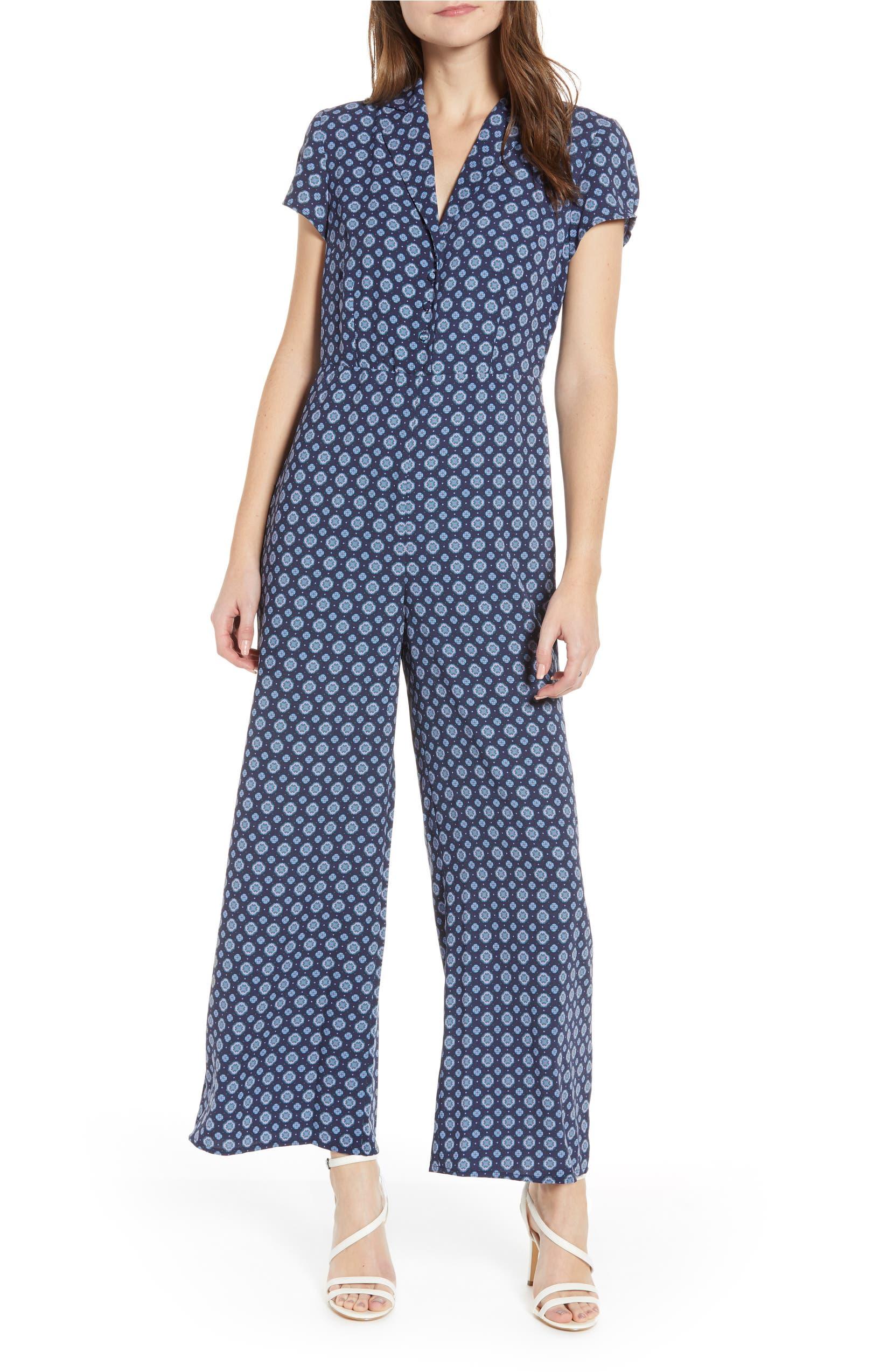 22da317823a Leith Print Button Front Jumpsuit (Regular   Plus Size)