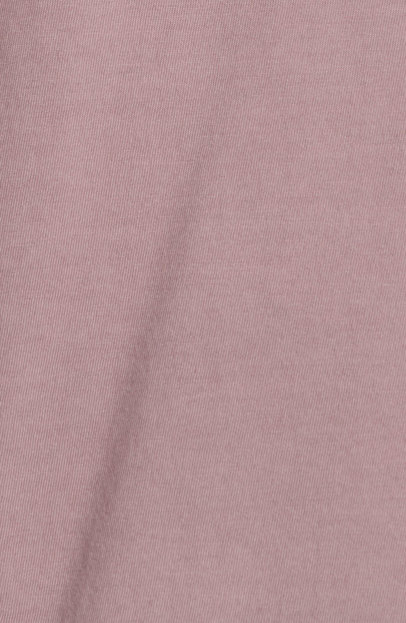 Long Sleeve T-Shirt,                             Alternate thumbnail 5, color,                             ROSE QUARTZ