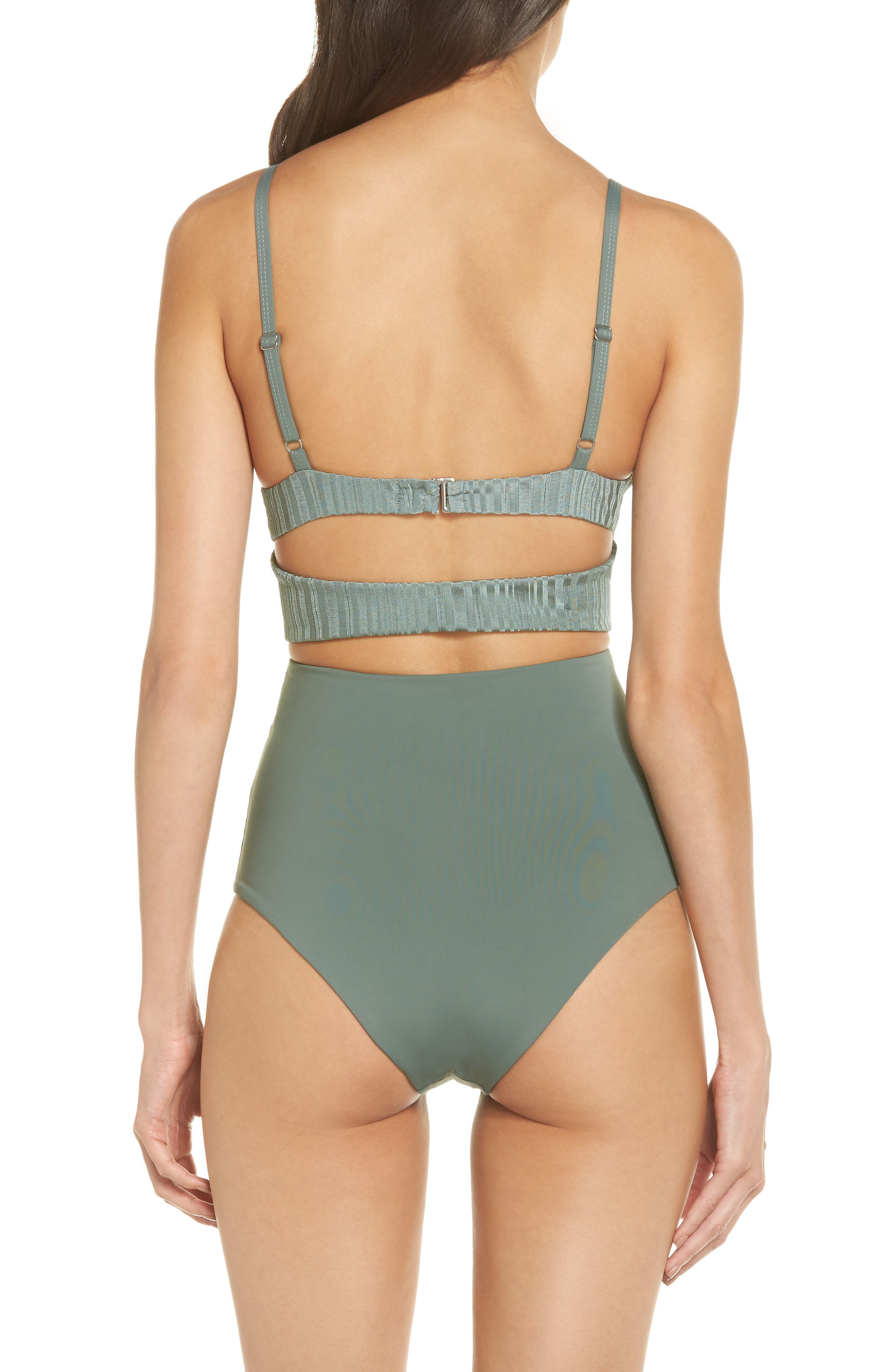 Penelope Cutout One-Piece Swimsuit,                             Alternate thumbnail 2, color,                             MEADOW GREEN