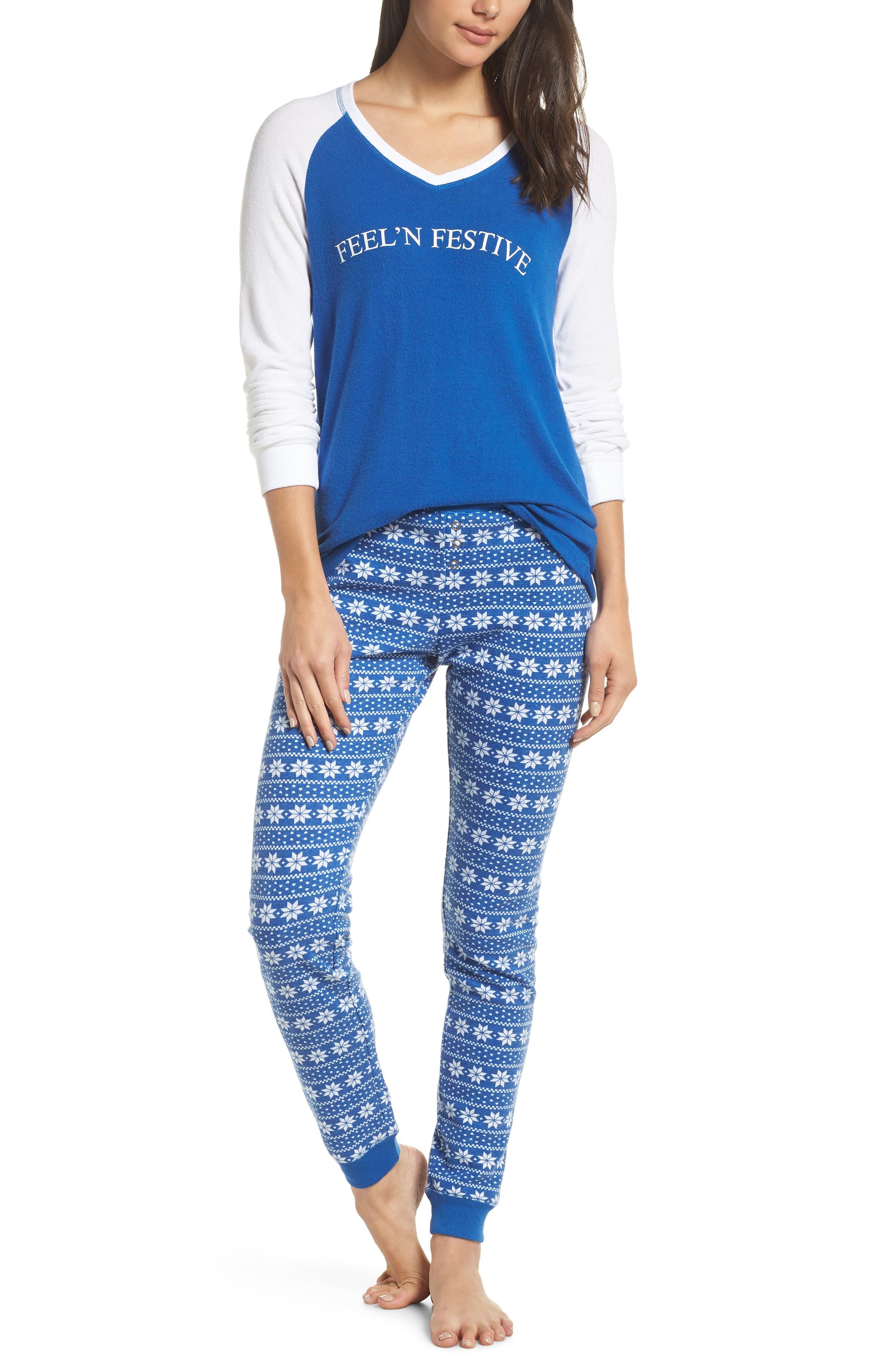 Make + Model Holiday Pajamas, Blue