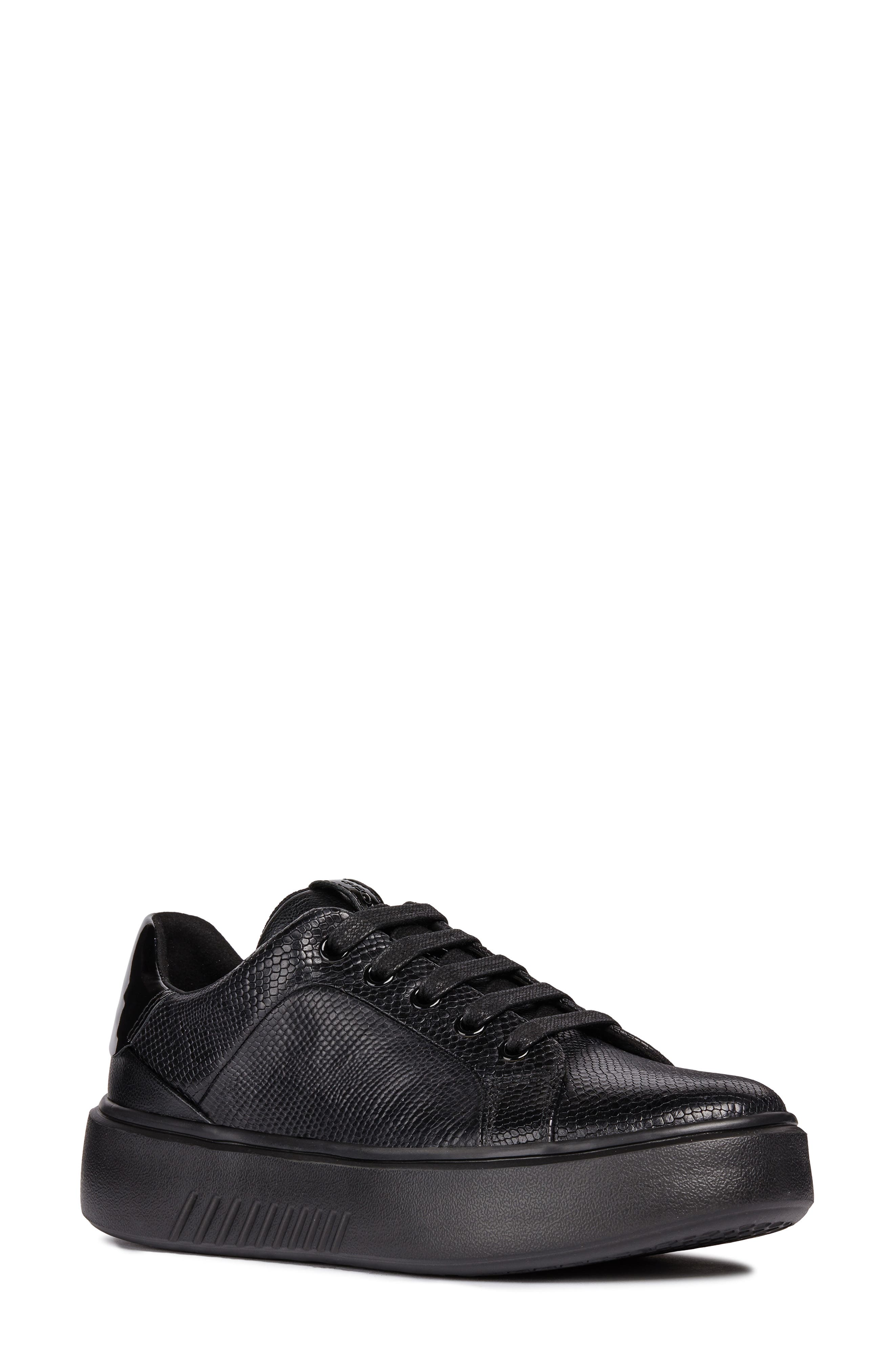 Nhenbus Sneaker,                         Main,                         color, BLACK LEATHER