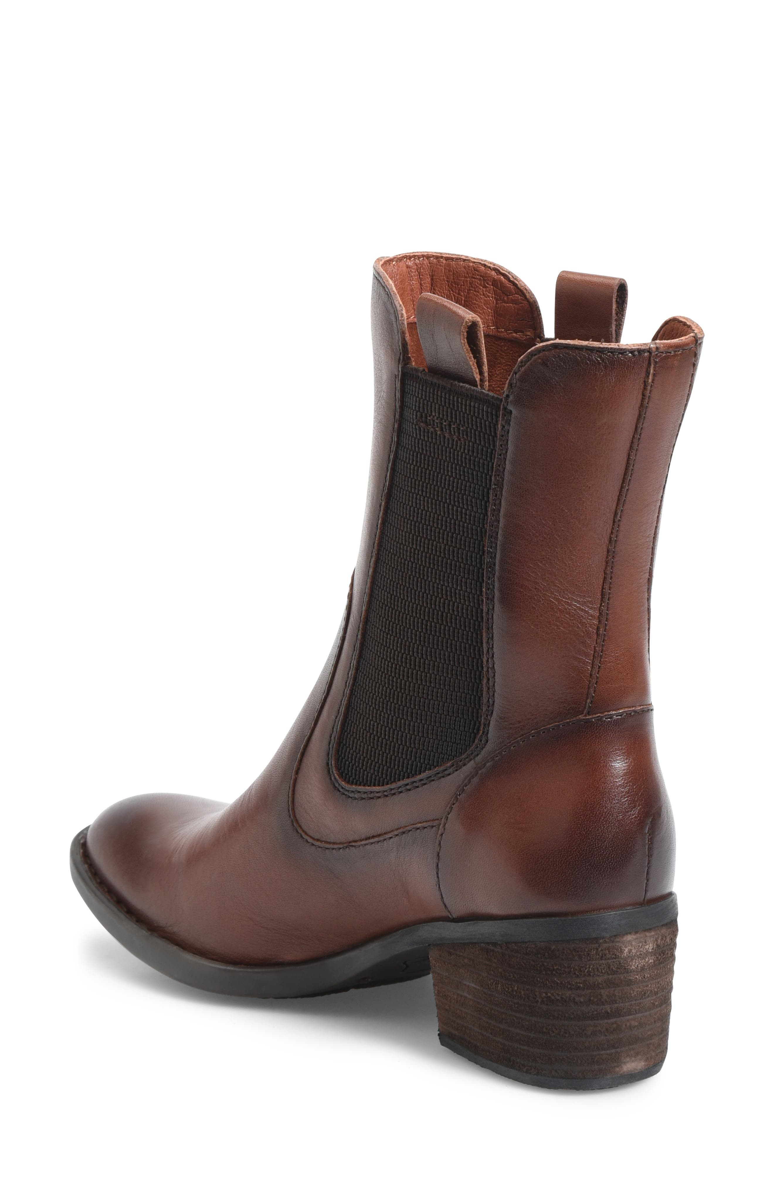 Tenny Chelsea Bootie,                             Alternate thumbnail 2, color,                             BROWN LEATHER