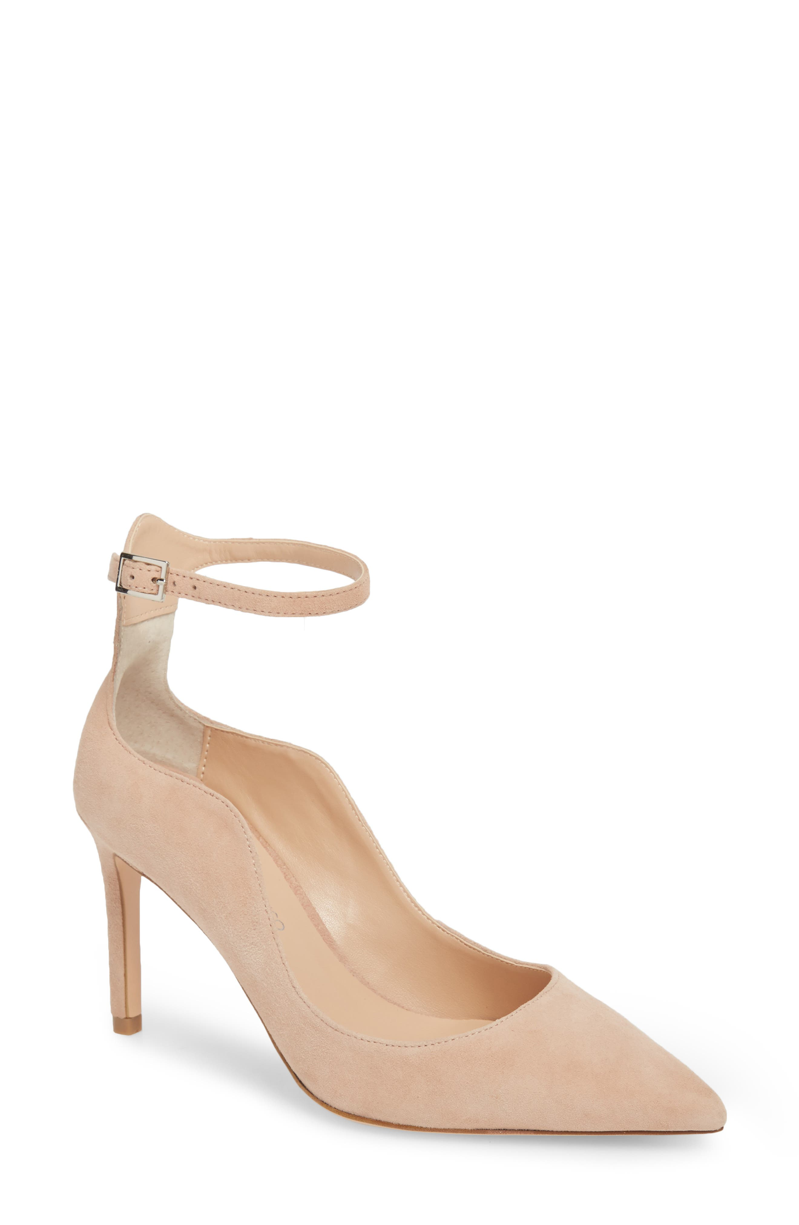 Evelyn Pump,                         Main,                         color, BLUSH SUEDE