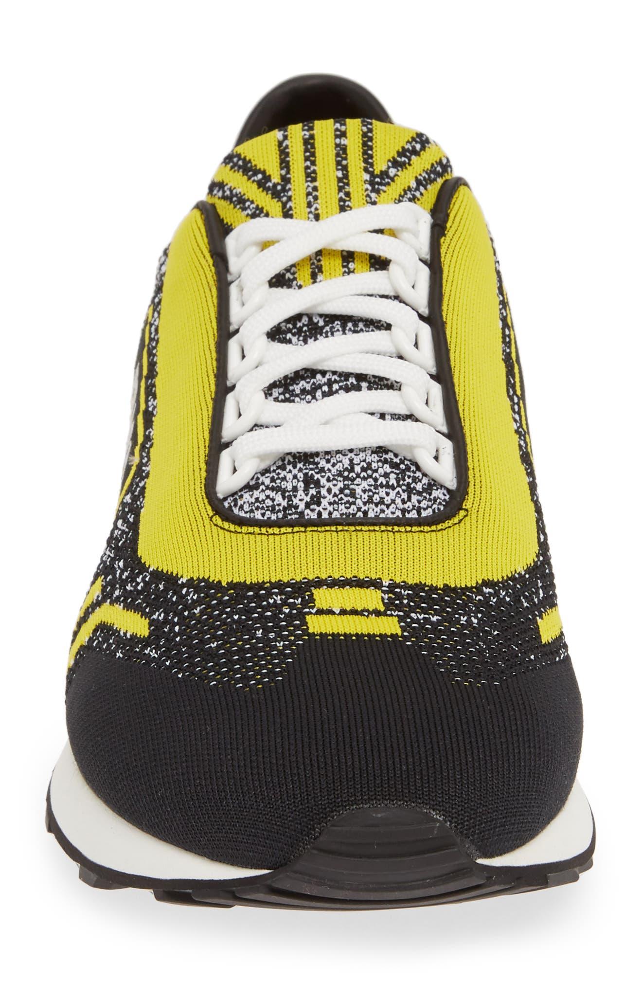 Retro Trainer Sneaker,                             Alternate thumbnail 4, color,                             NERO GIALLO