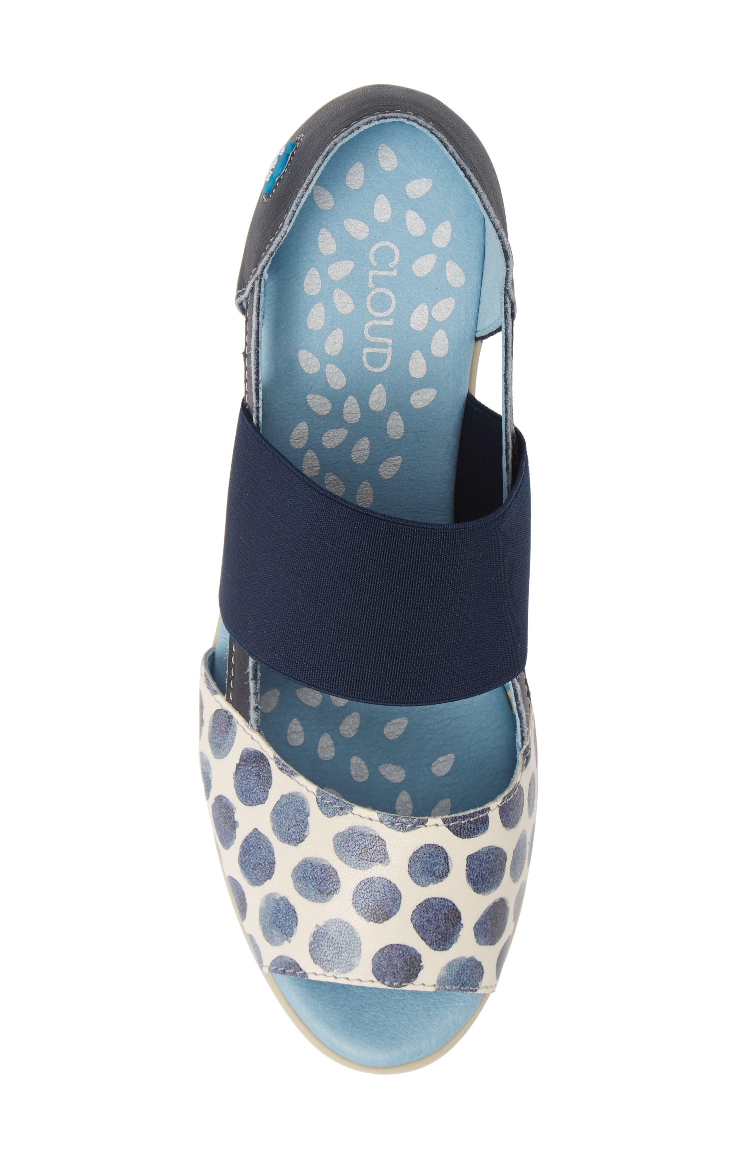 CLOUD,                             'Canary' Skimmer Sandal,                             Alternate thumbnail 5, color,                             TUPAI BLUE LEATHER